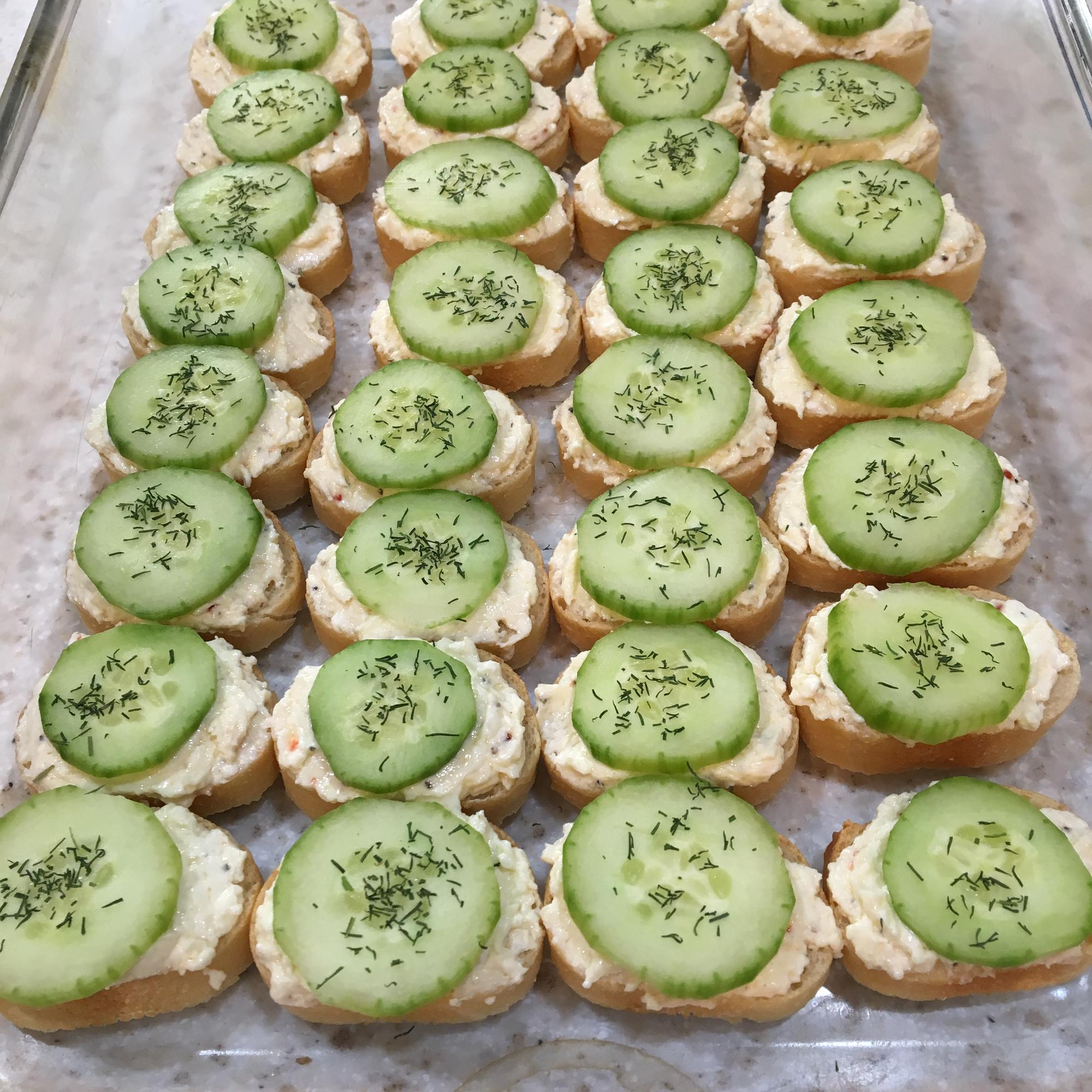 Creamy Dill Cucumber Toasties Tiffany Knutson