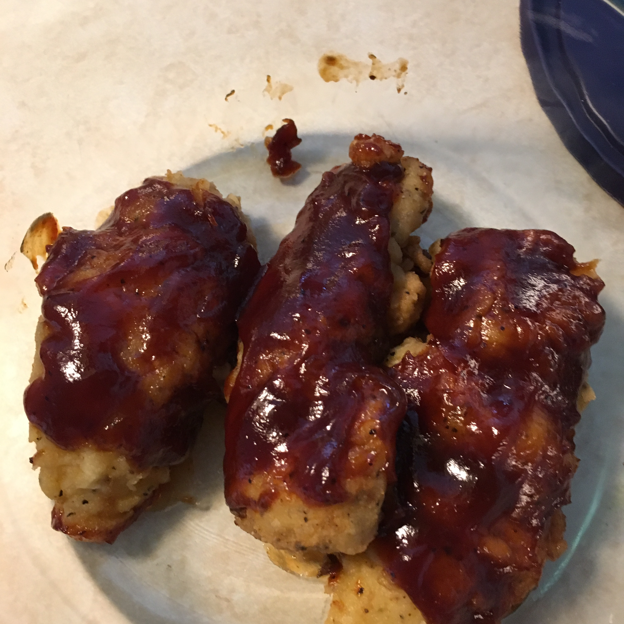 Baked BBQ Fried Chicken