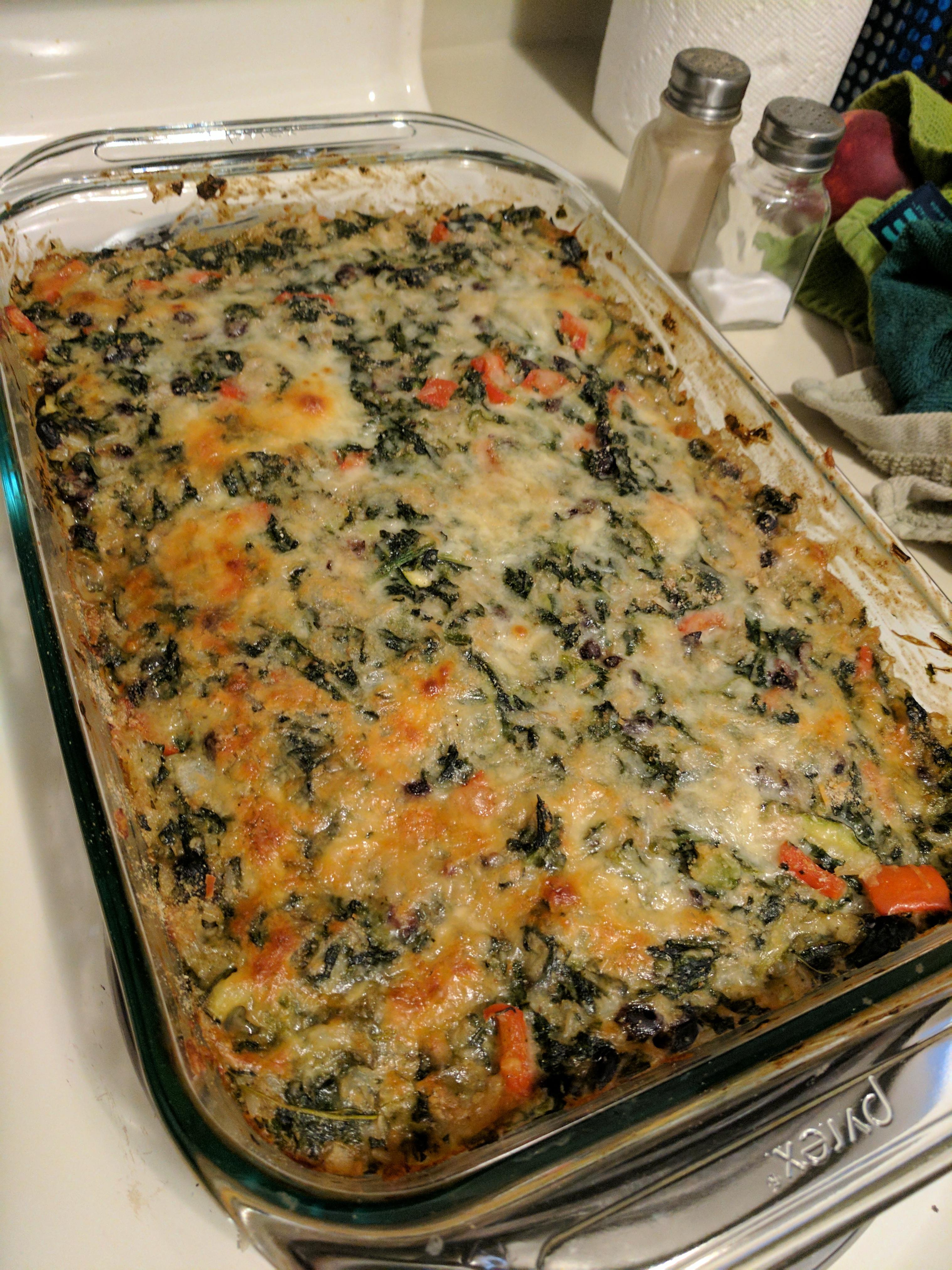 Spinach Veggie Casserole reschwab