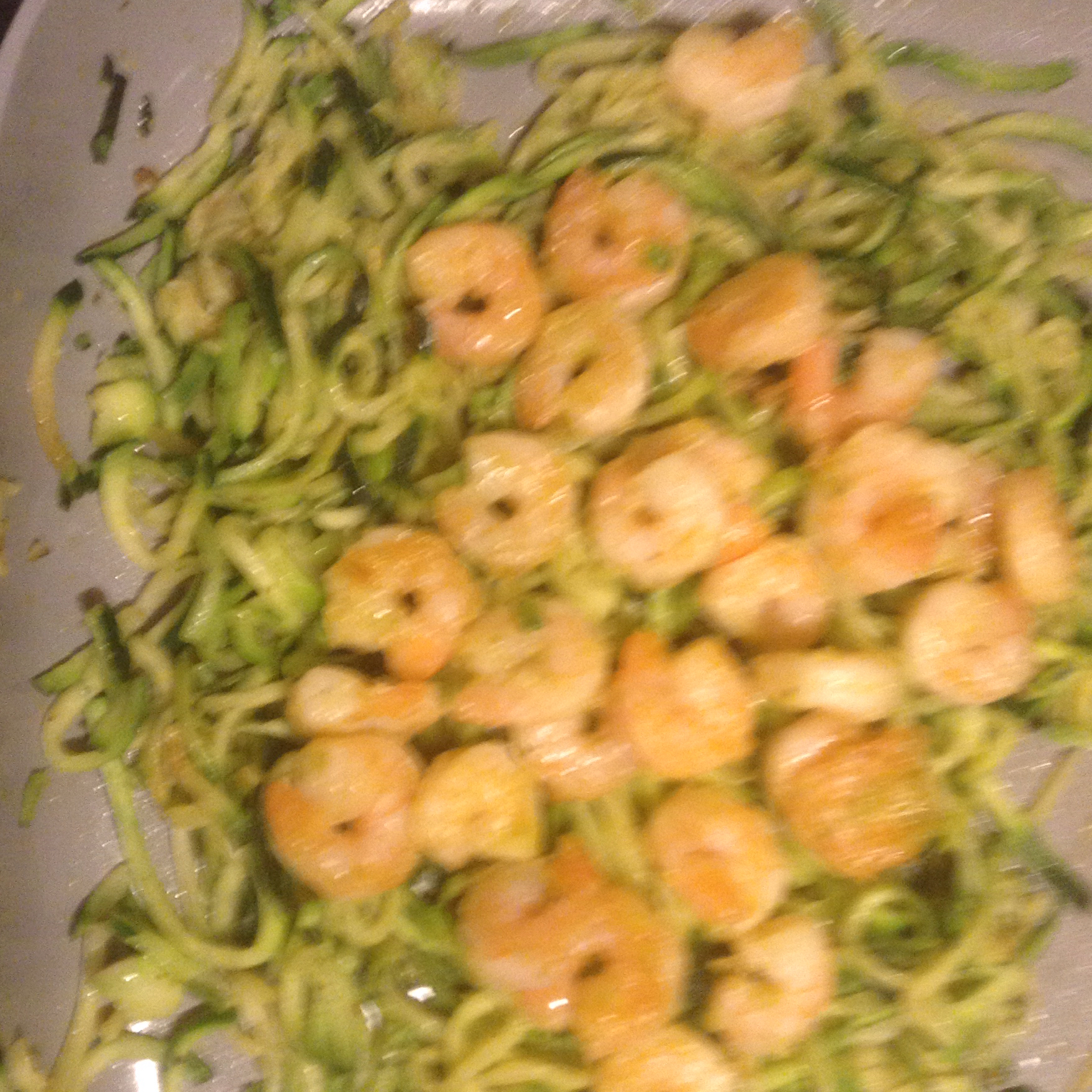 Grilled Shrimp over Zucchini Noodles tina
