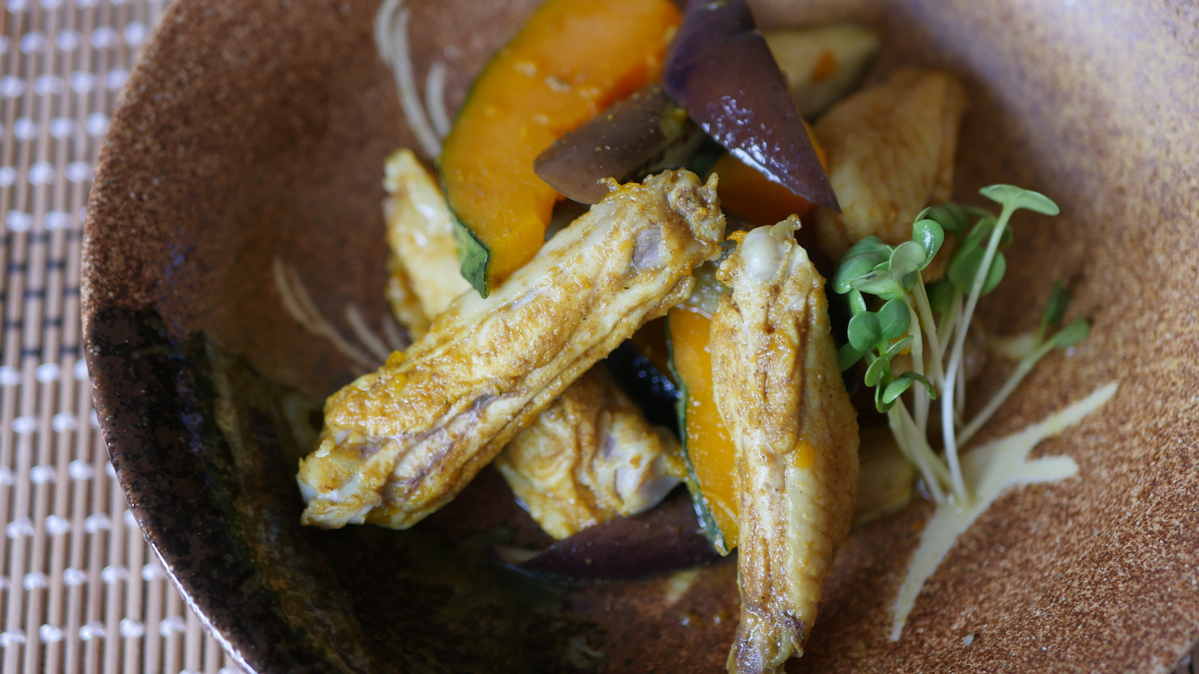 Steamed Chicken Curry with Kabocha
