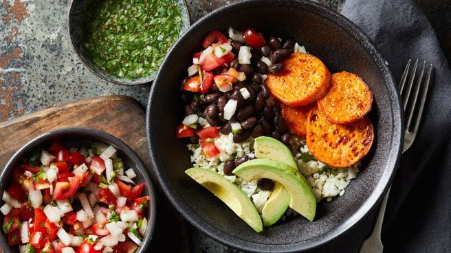 Cuban Cauliflower Rice Bowl Trusted Brands