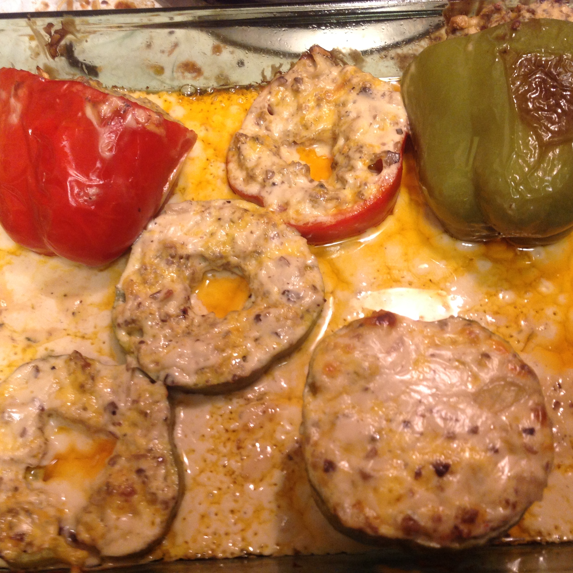 Sausage Alfredo Stuffed Peppers