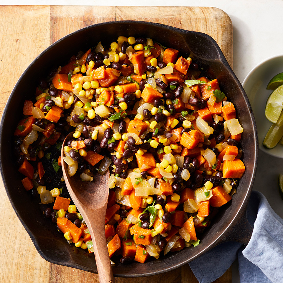 Quick and easy hashes are fabulous one-pot meals for those nights when getting dinner on the table fast is a priority. Source: EatingWell Magazine, March 1998