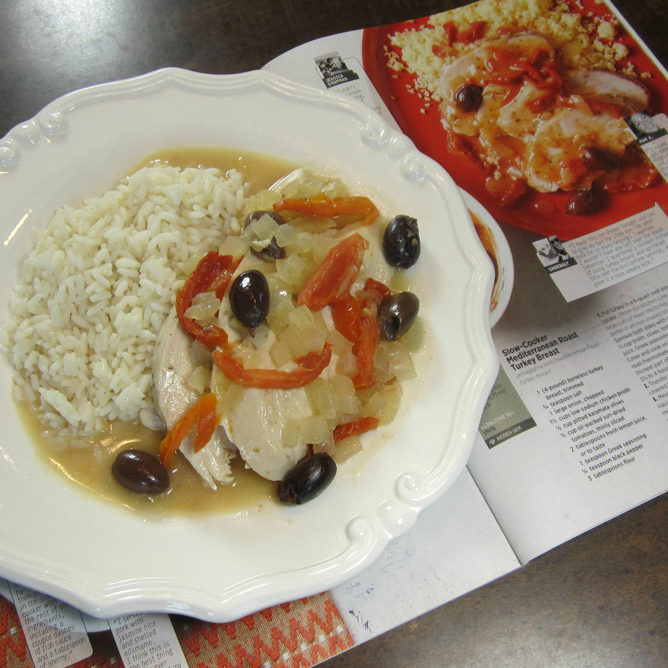Slow Cooker Mediterranean Roast Turkey Breast Deb C