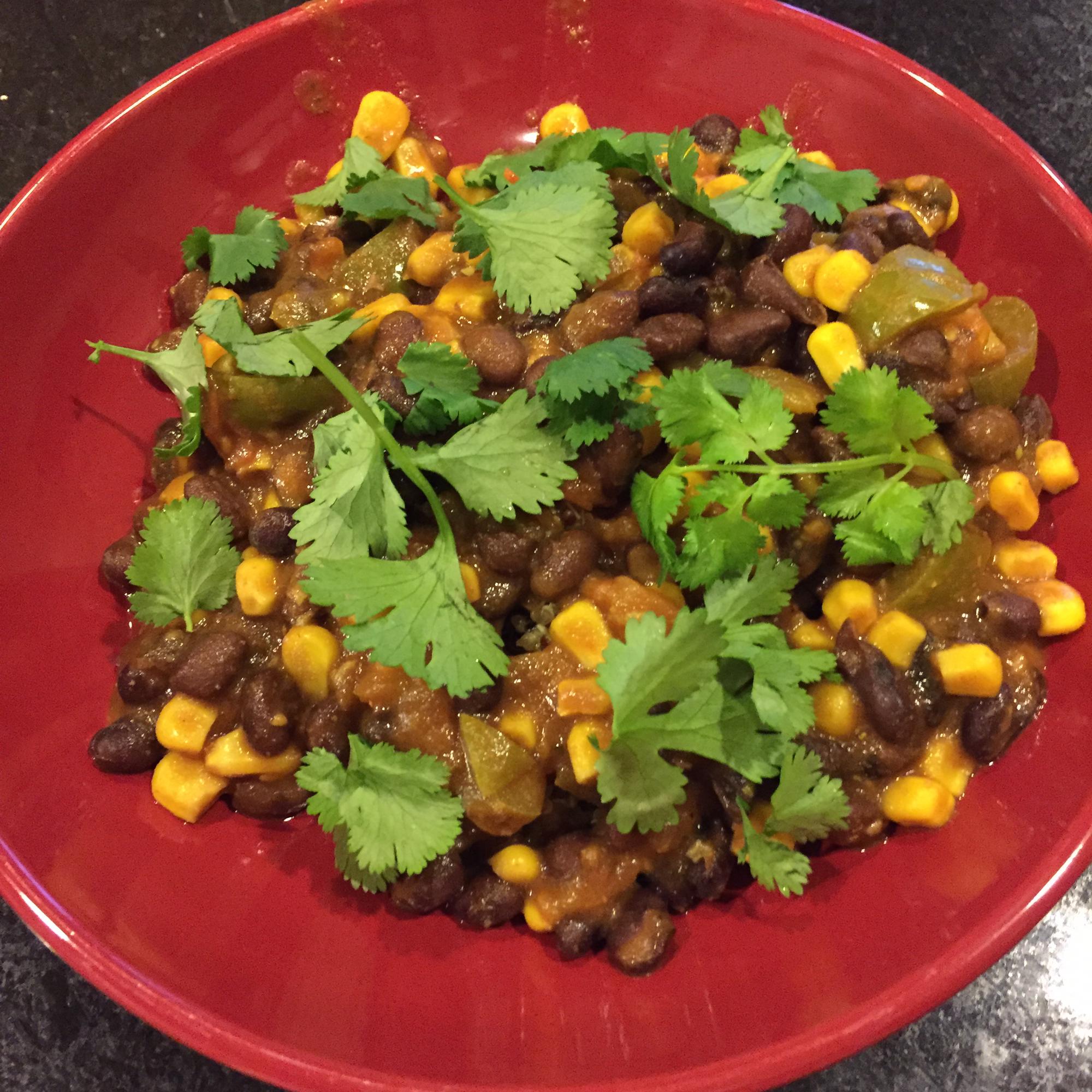 Spicy Vegetarian Black Beans (Fusion) Raj S Madugula