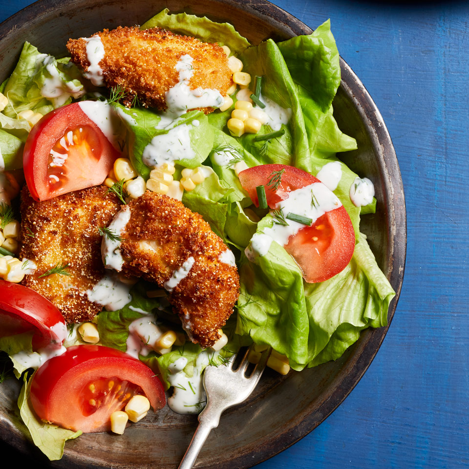 Fried Chicken Salad with Buttermilk Dressing Stacy Fraser