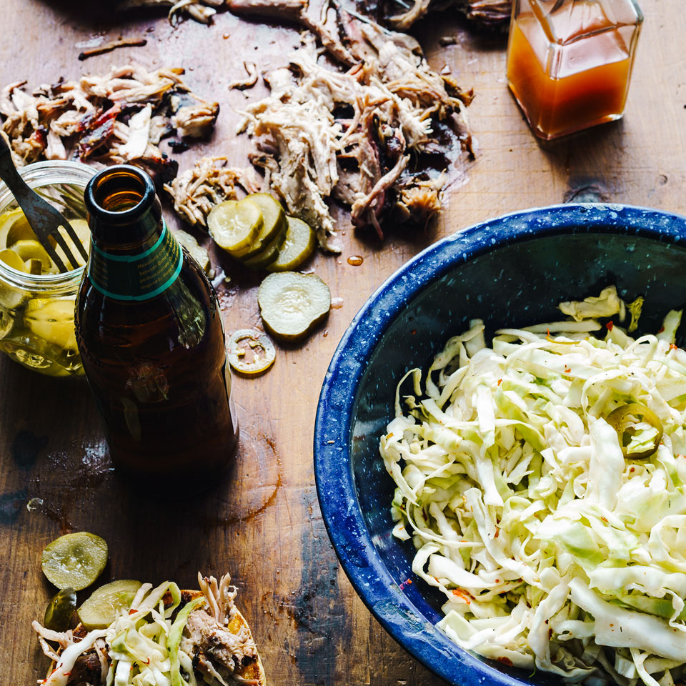 Pulled Pork with Peppered Vinegar Sauce EatingWell Test Kitchen