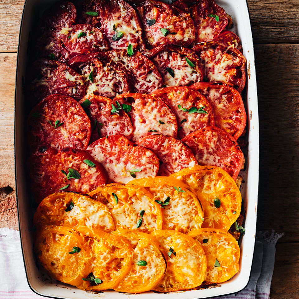 Herbed Tomato Gratin EatingWell Test Kitchen