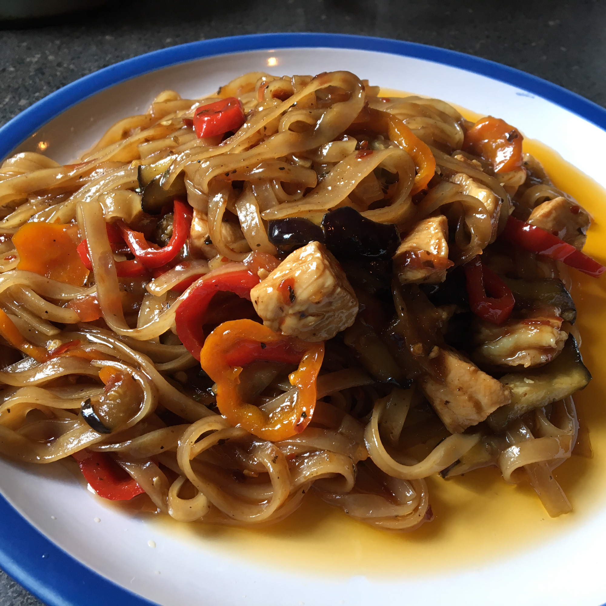 Pad Kee Mow (Drunkard's Noodles) pok