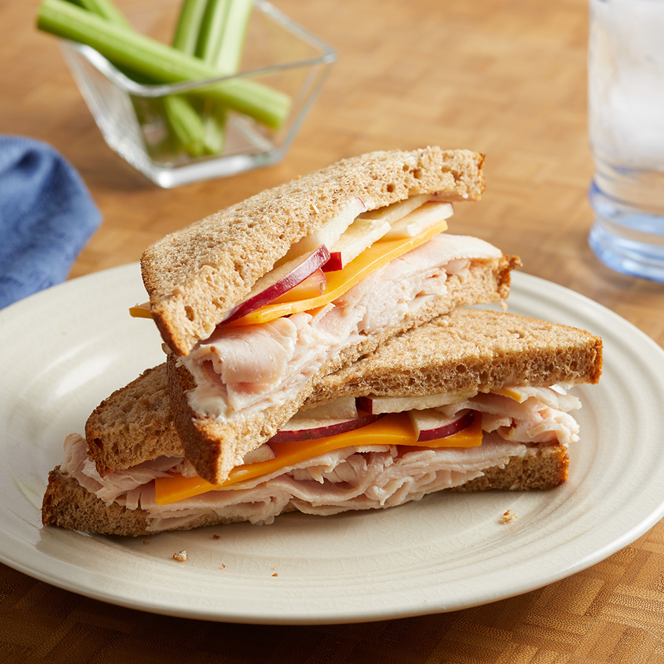 It only takes 5 minutes to make this healthy sandwich with whole-wheat bread and the classic combination of Cheddar cheese and apples that your kids will love. Source: EatingWell.com, June 2017