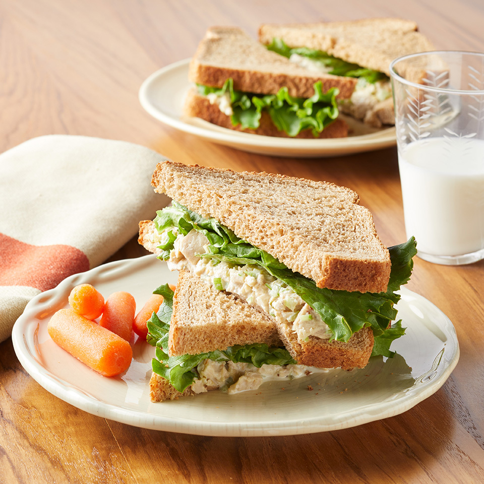 This sweet twist on a classic tuna-salad sandwich is a healthy high-protein lunch that even your kids will love. Source: EatingWell.com, June 2017