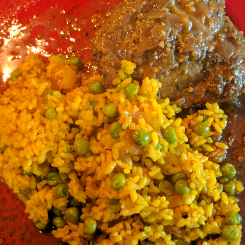 Turmeric Rice with Peas and Carrots Kblaber