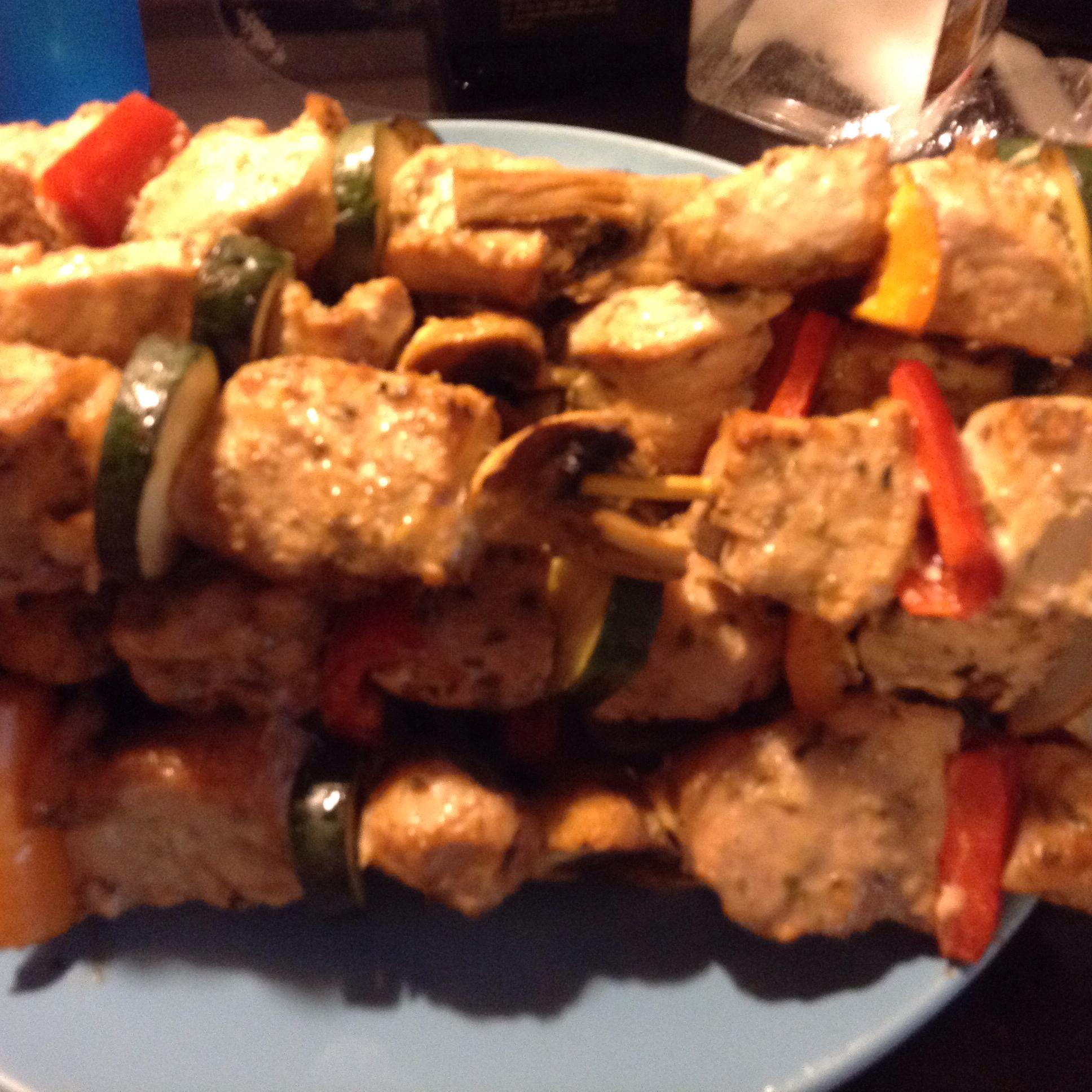 Chicken Souvlaki with Tzatziki Sauce