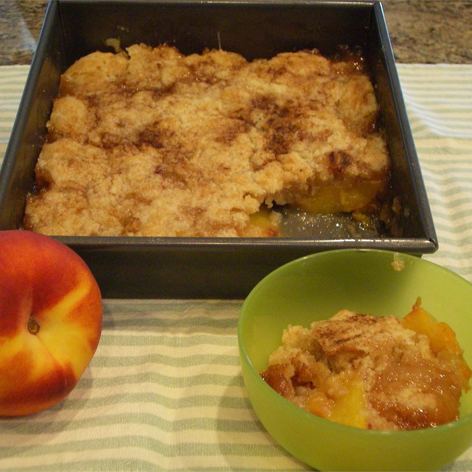 Cookie-Crusted Peach Cobbler