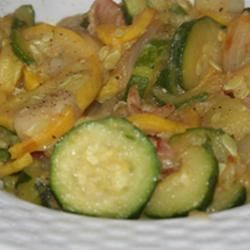 Summer Squash with Bacon image