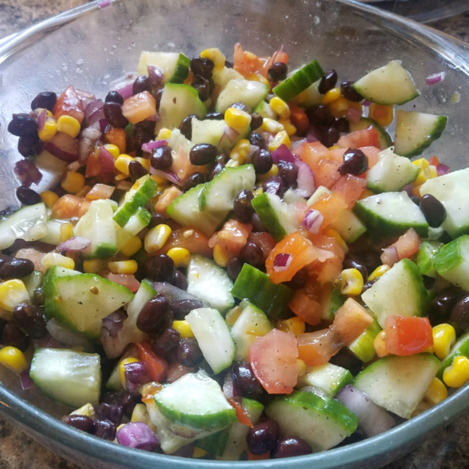 Black Bean and Cucumber Salad Ragan Lacy