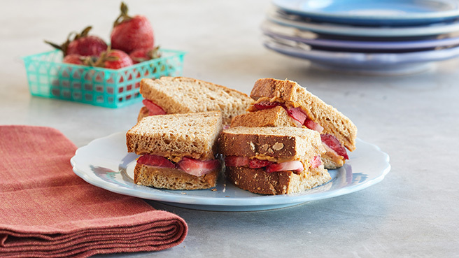 Strawberry-Almond Butter Sandwich Trusted Brands