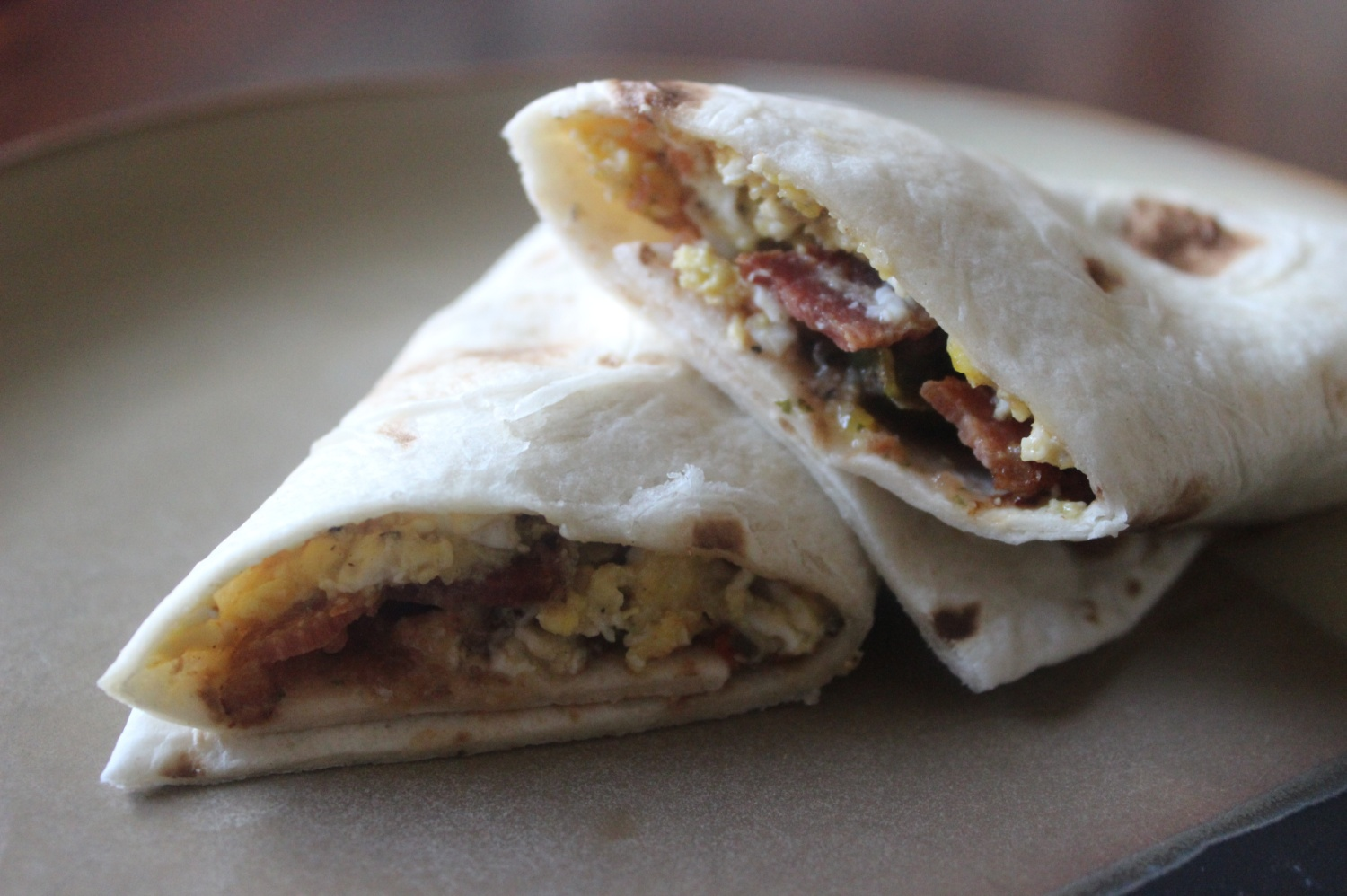Bacon and Egg Tacos mommyluvs2cook