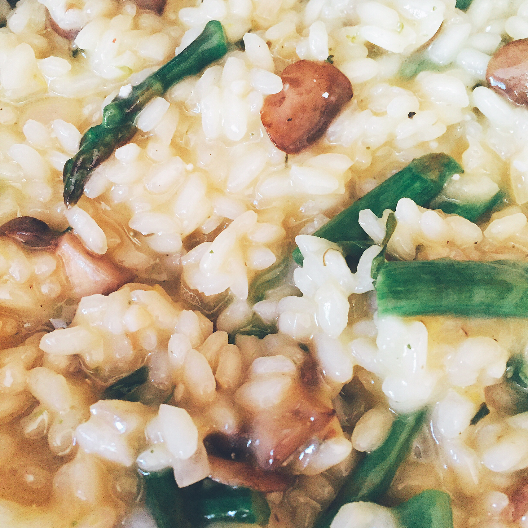 Asparagus and Morel Risotto Michelle Lombardi