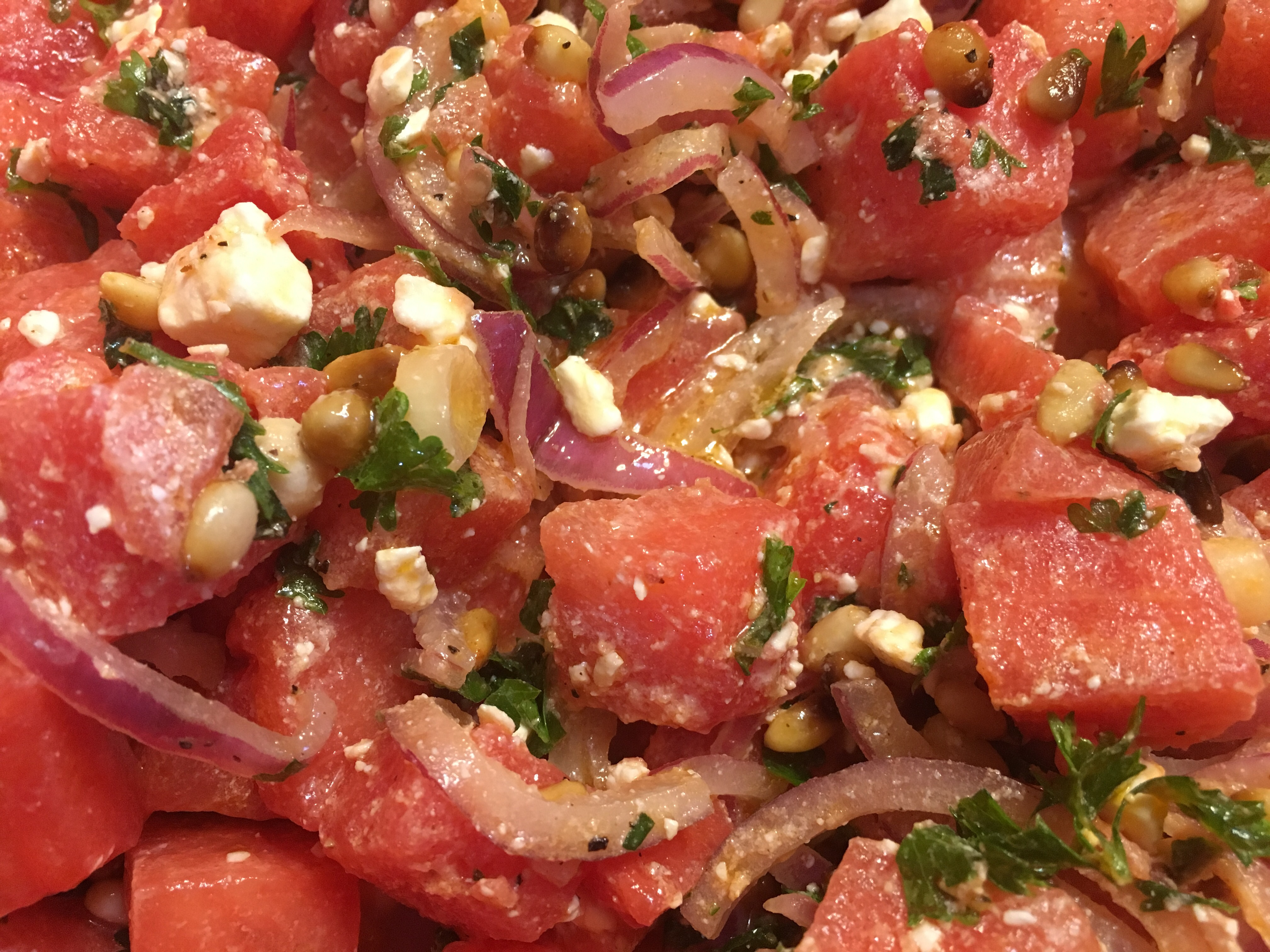 Tisa's Big Top Watermelon Salad Kayleen Mortensen Oldham