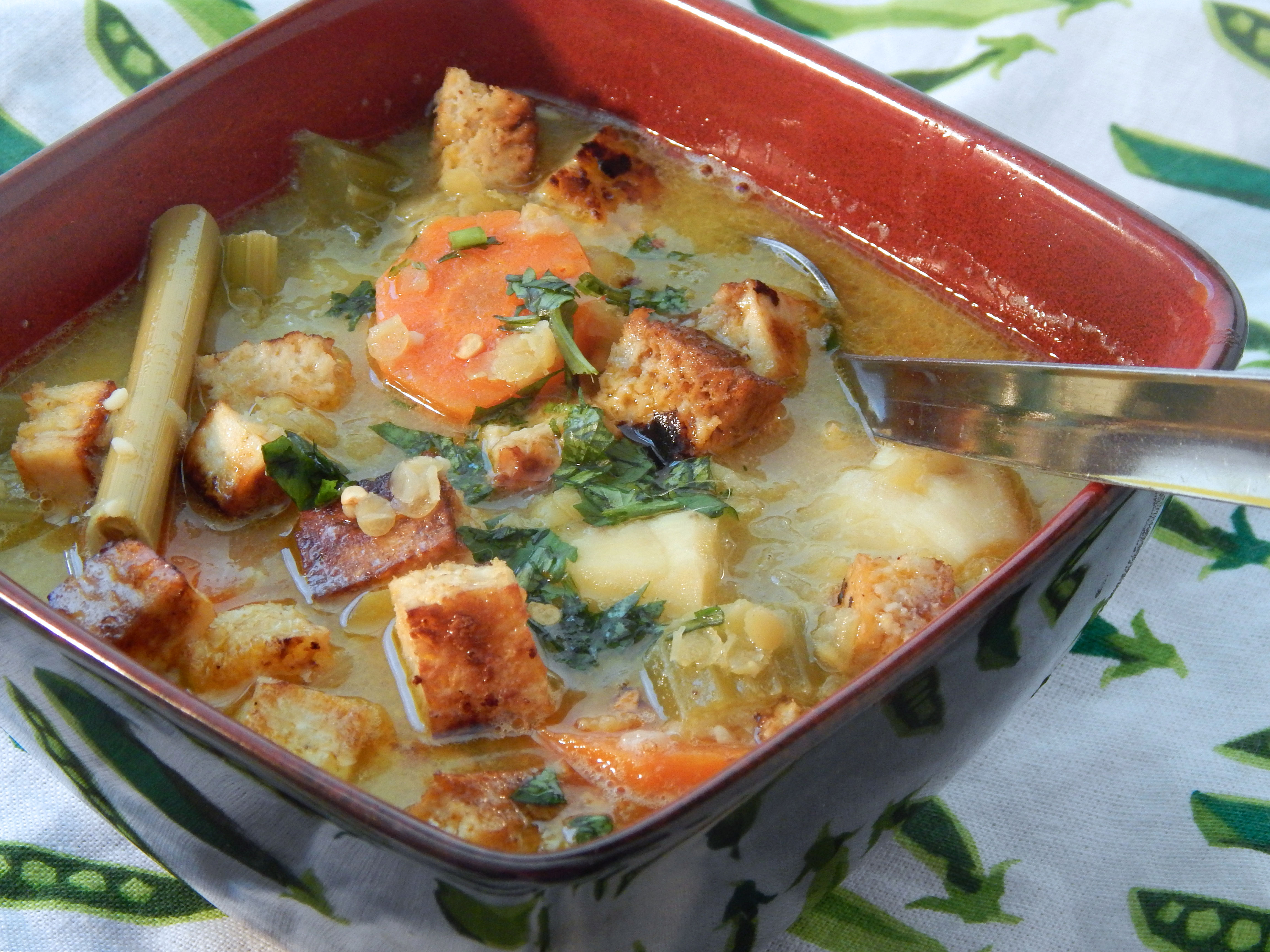 Vegetable Tofu Soup with Lemongrass and Coconut Milk Uncle Jeffy