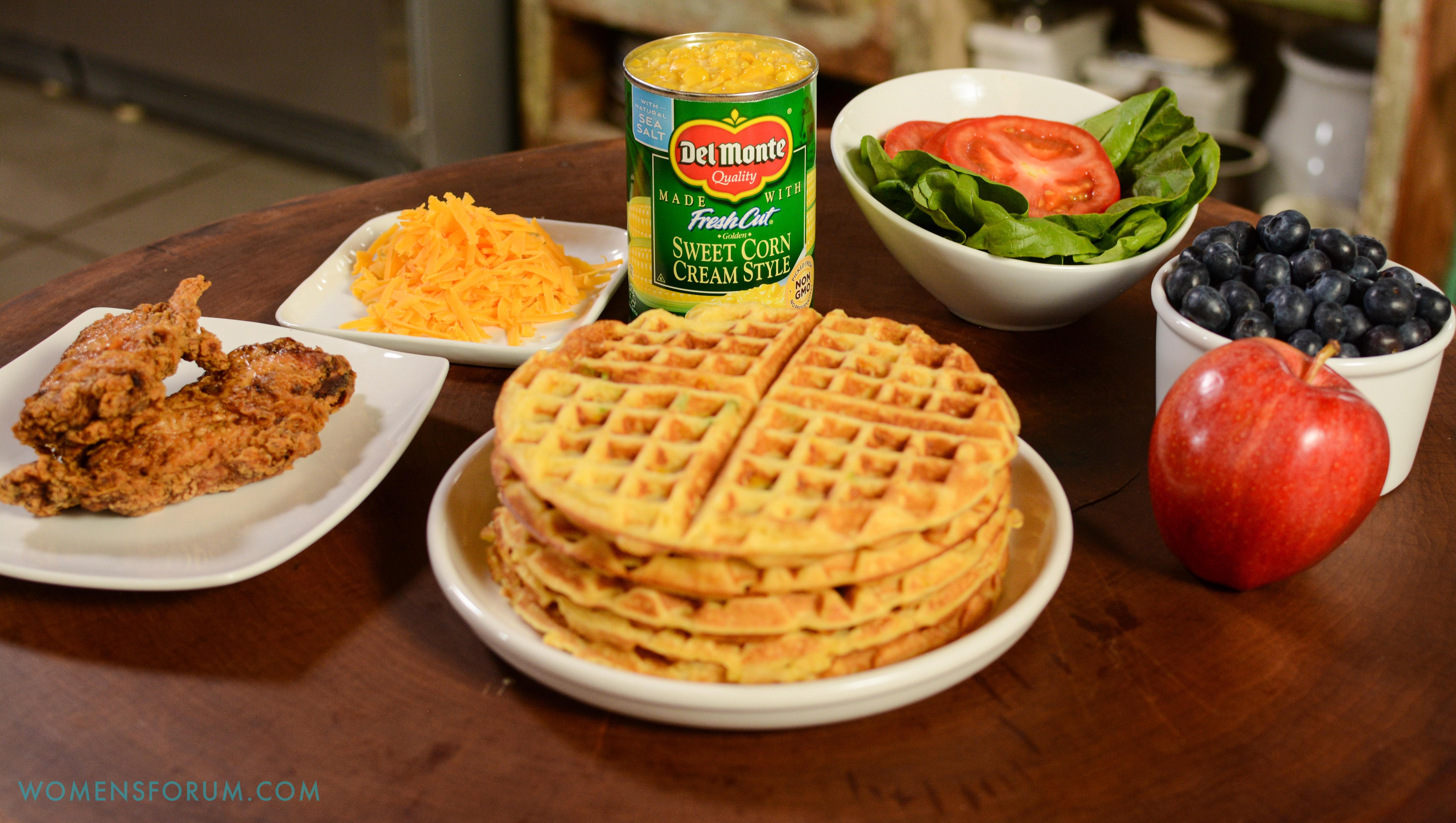 Savory Corn Waffles Del Monte