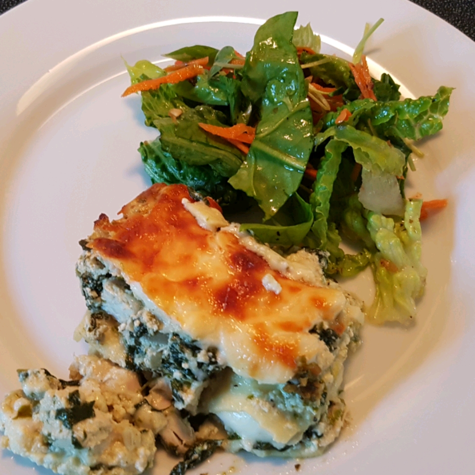 Chicken and Spinach Pesto Lasagna