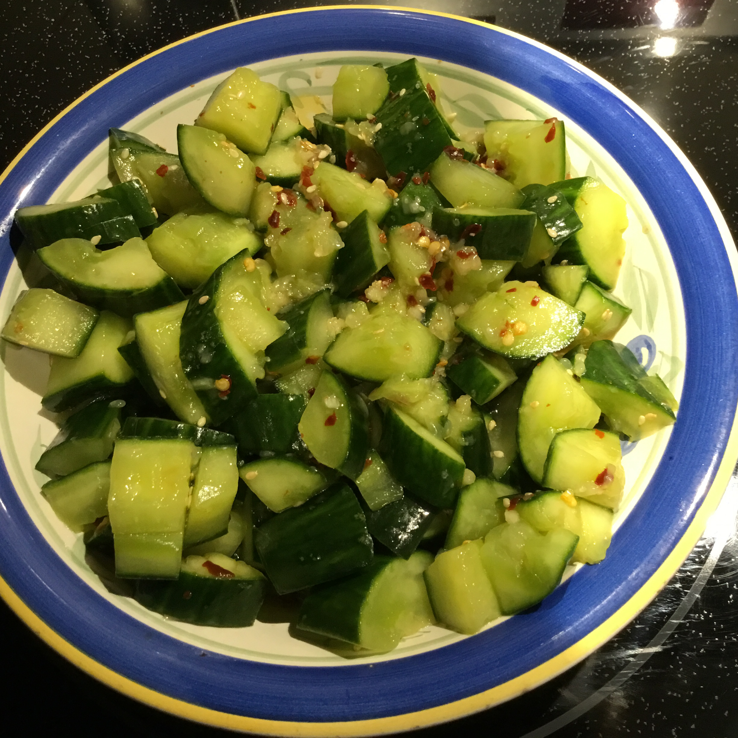 Smashed Cucumber Salad GUMBY