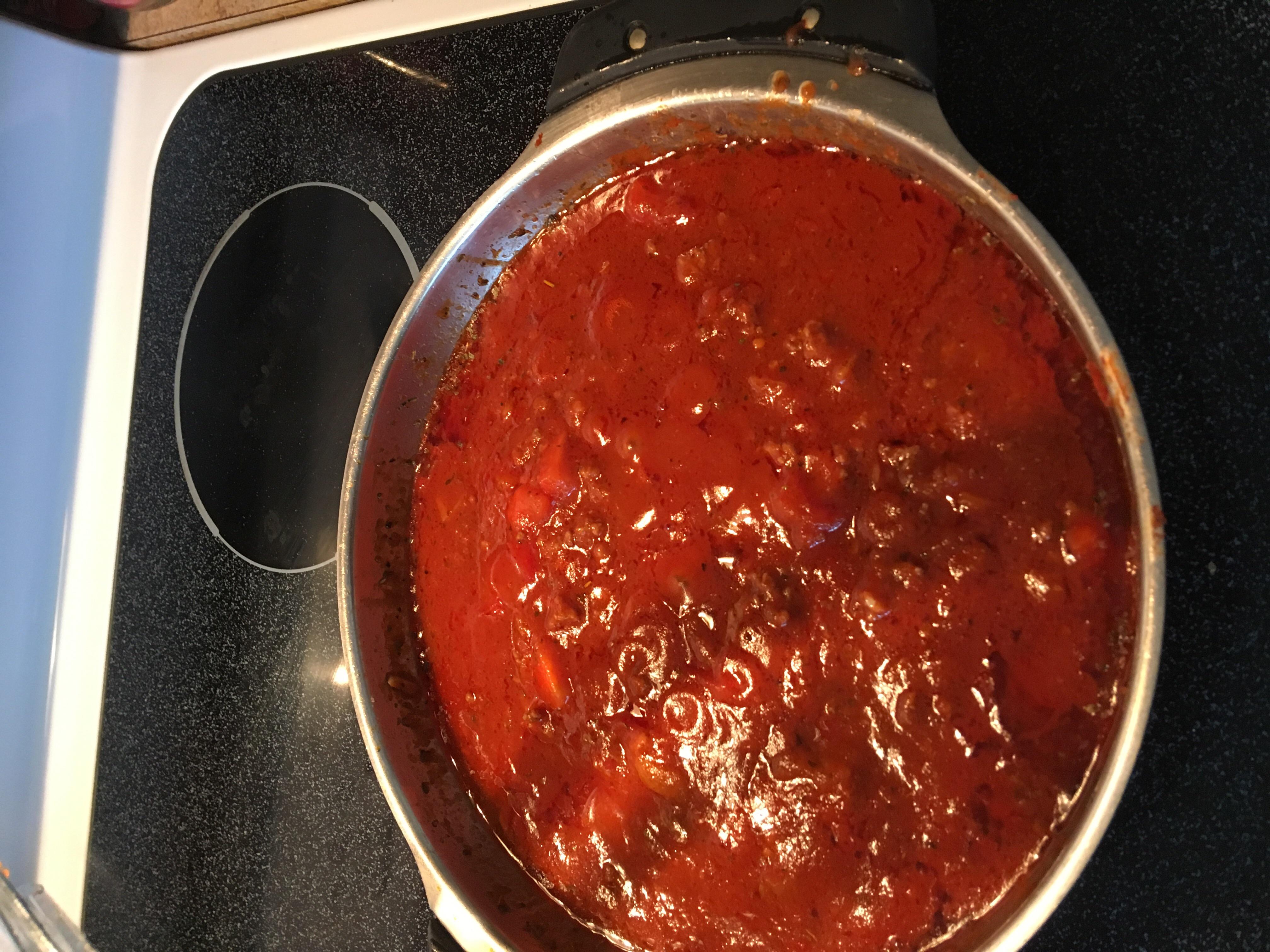 Mom's Quick Pasta Sauce Lesley Nicole Anderson Wolfe