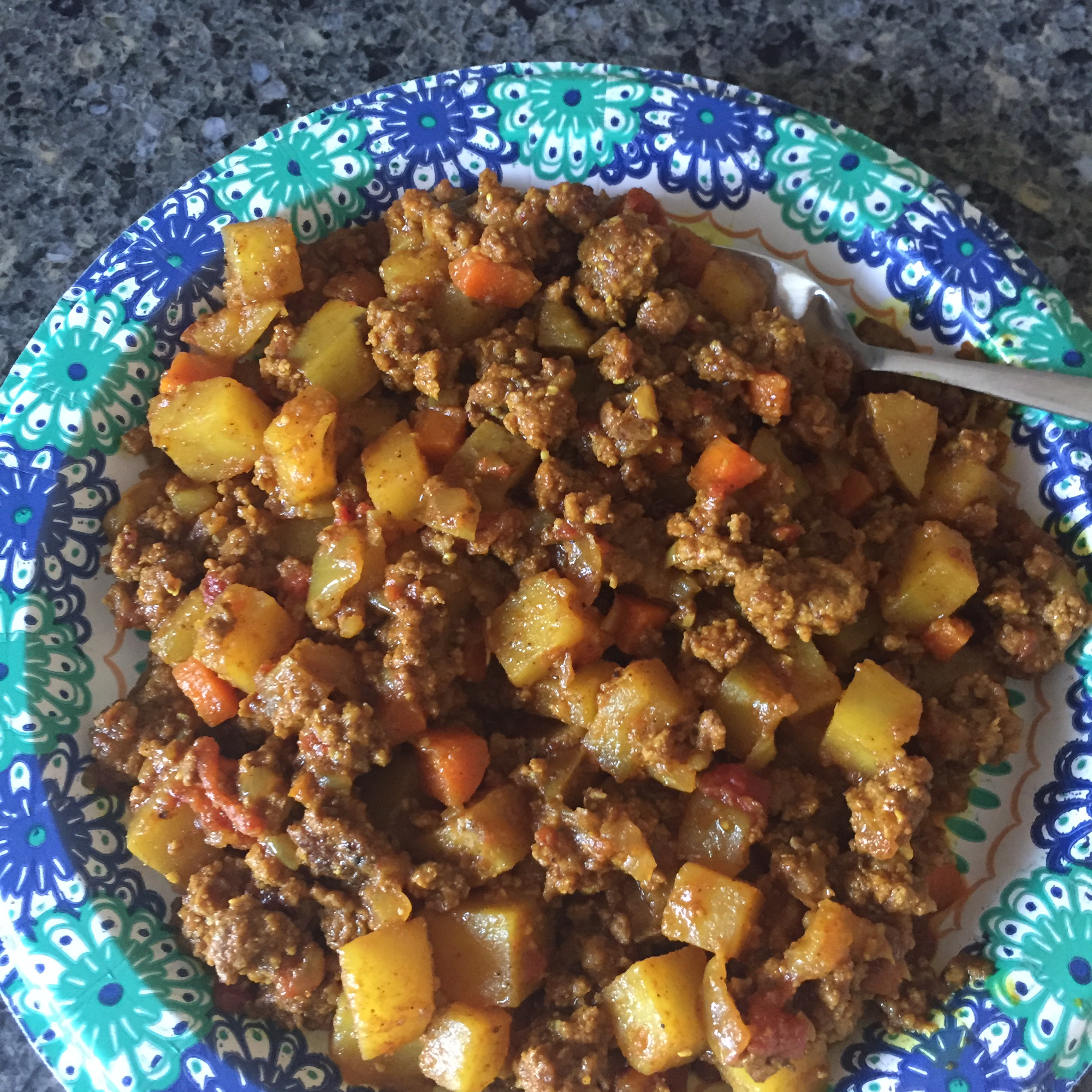 "This easy beef and potato curry is ready in less than an hour. ""This was Excellent!"" raves Kathie. ""The flavor was like no other that I've had before. Can't wait to make it again!!"