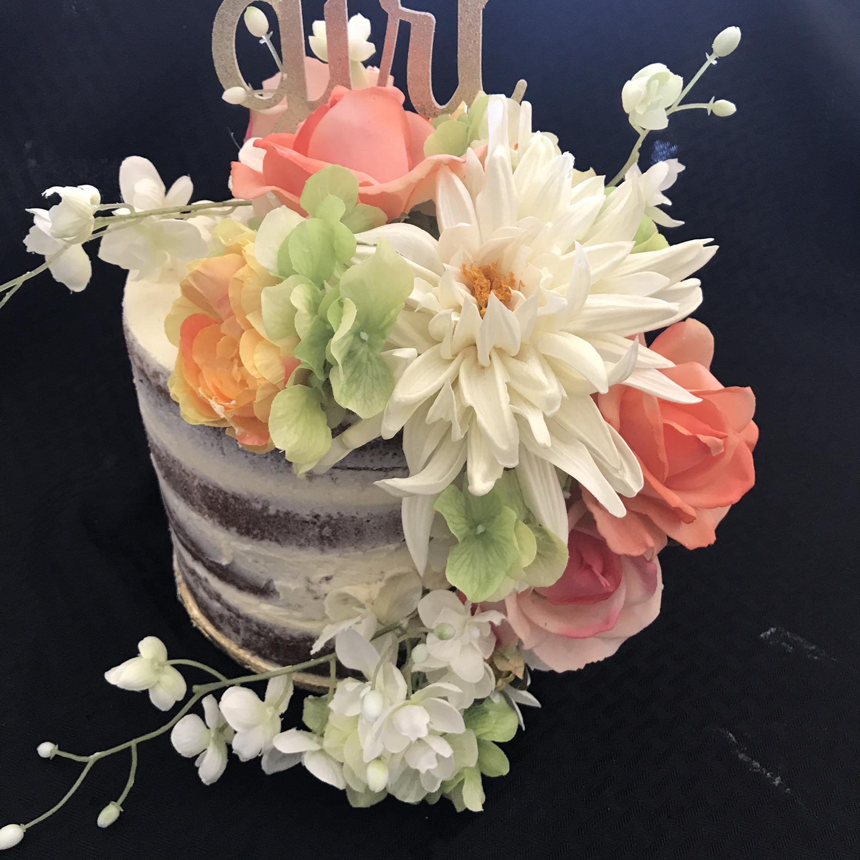 Champagne Cake With Buttercream Icing teena alihassan