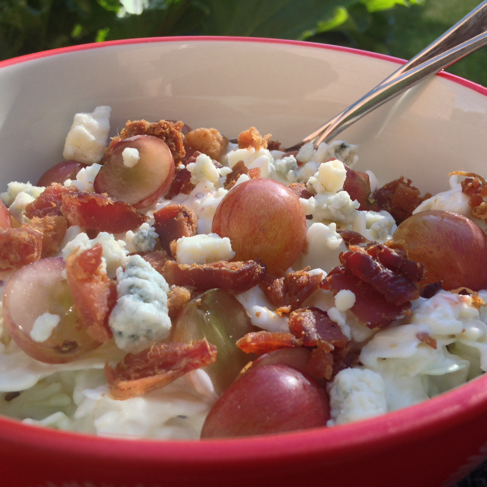 Tommy's Blue Cheese Coleslaw (with Bacon and Grapes)