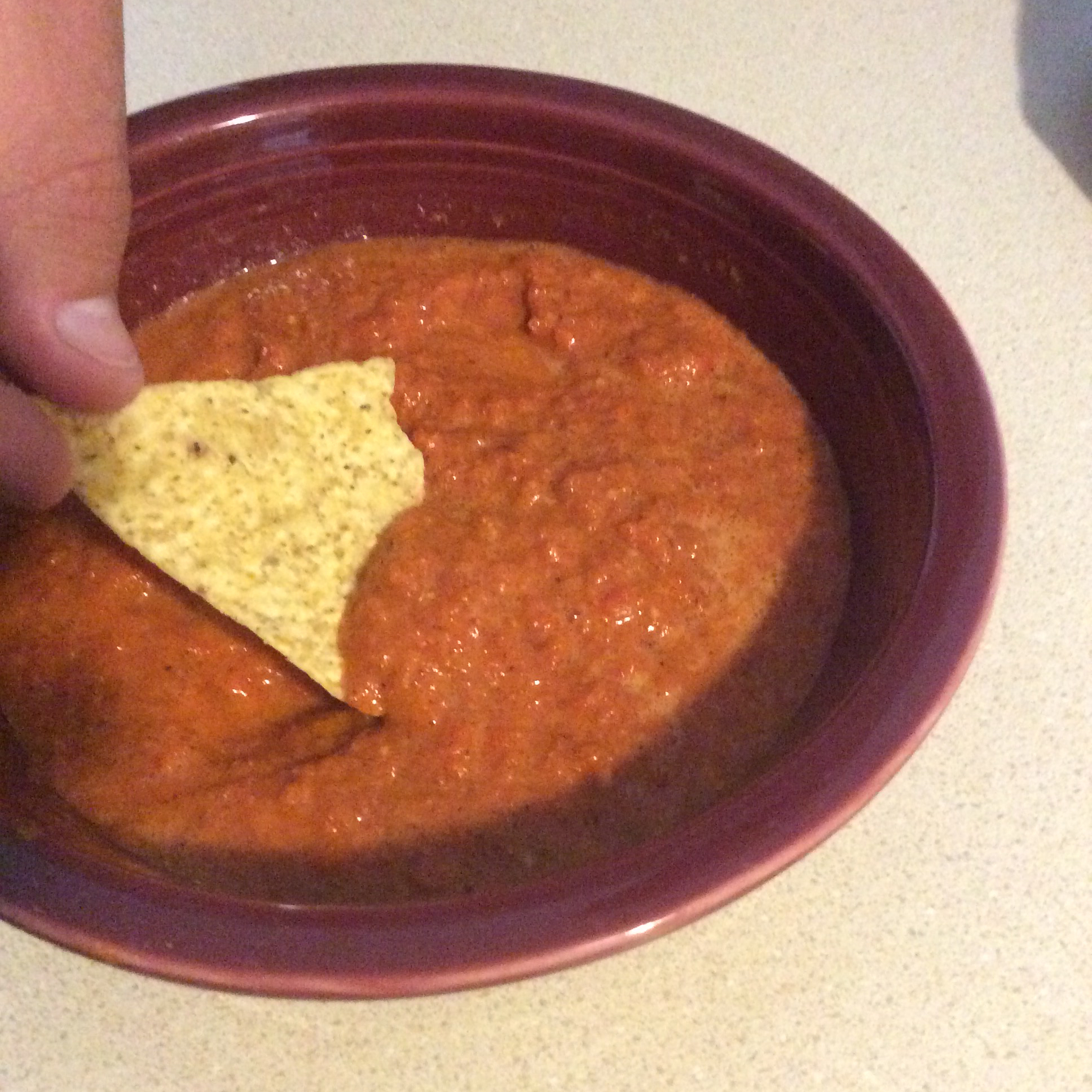 Slightly Spicy Roasted Red Pepper Dip Anna Dancer