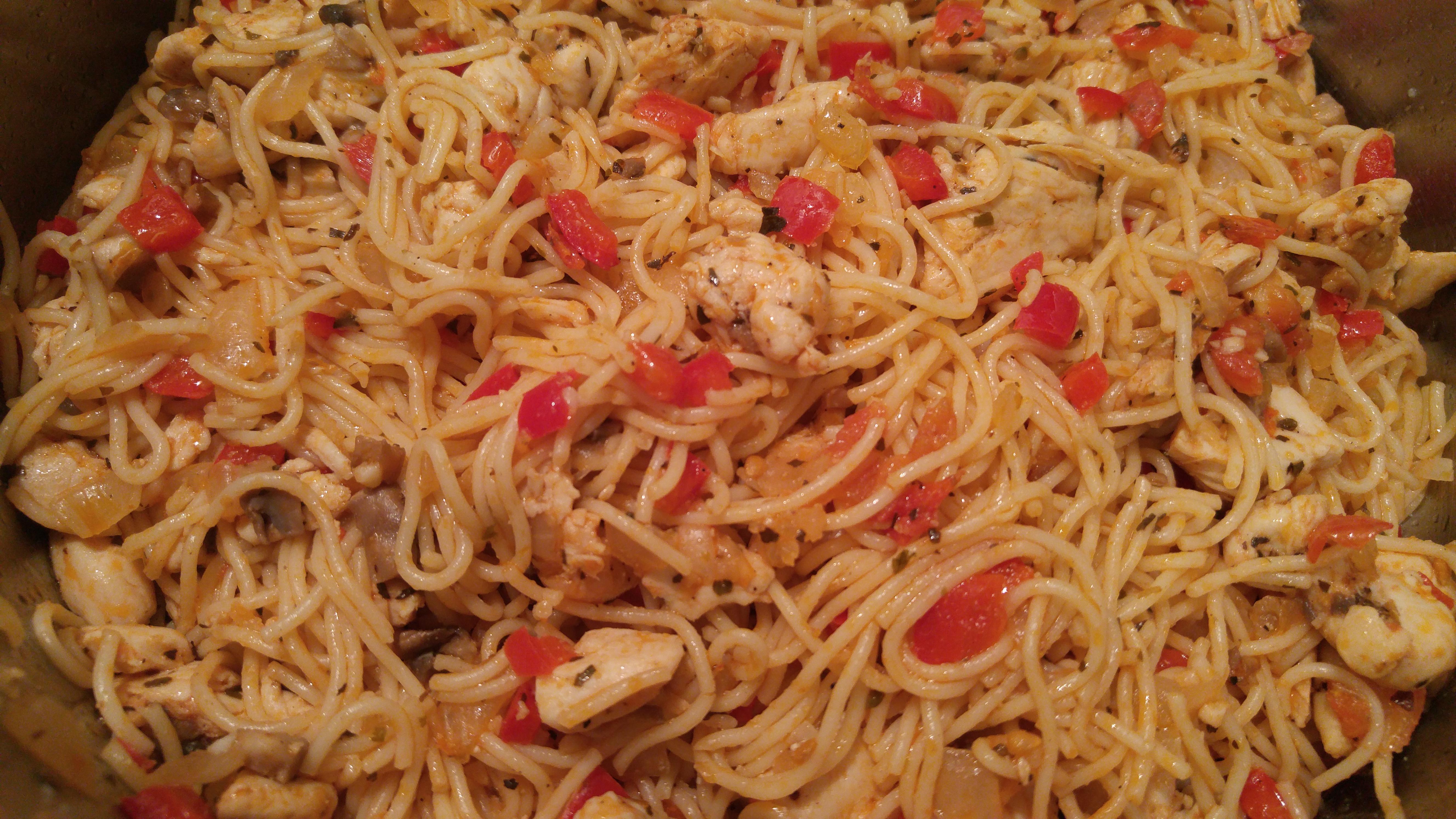 Skillet Chicken Pasta Nicole N.