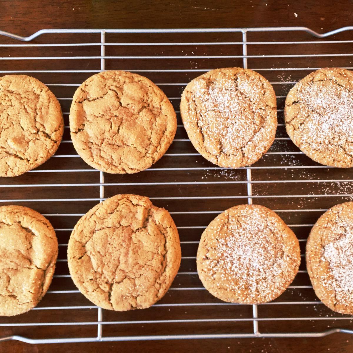 Healthier Big Soft Ginger Cookies MakeItHealthy