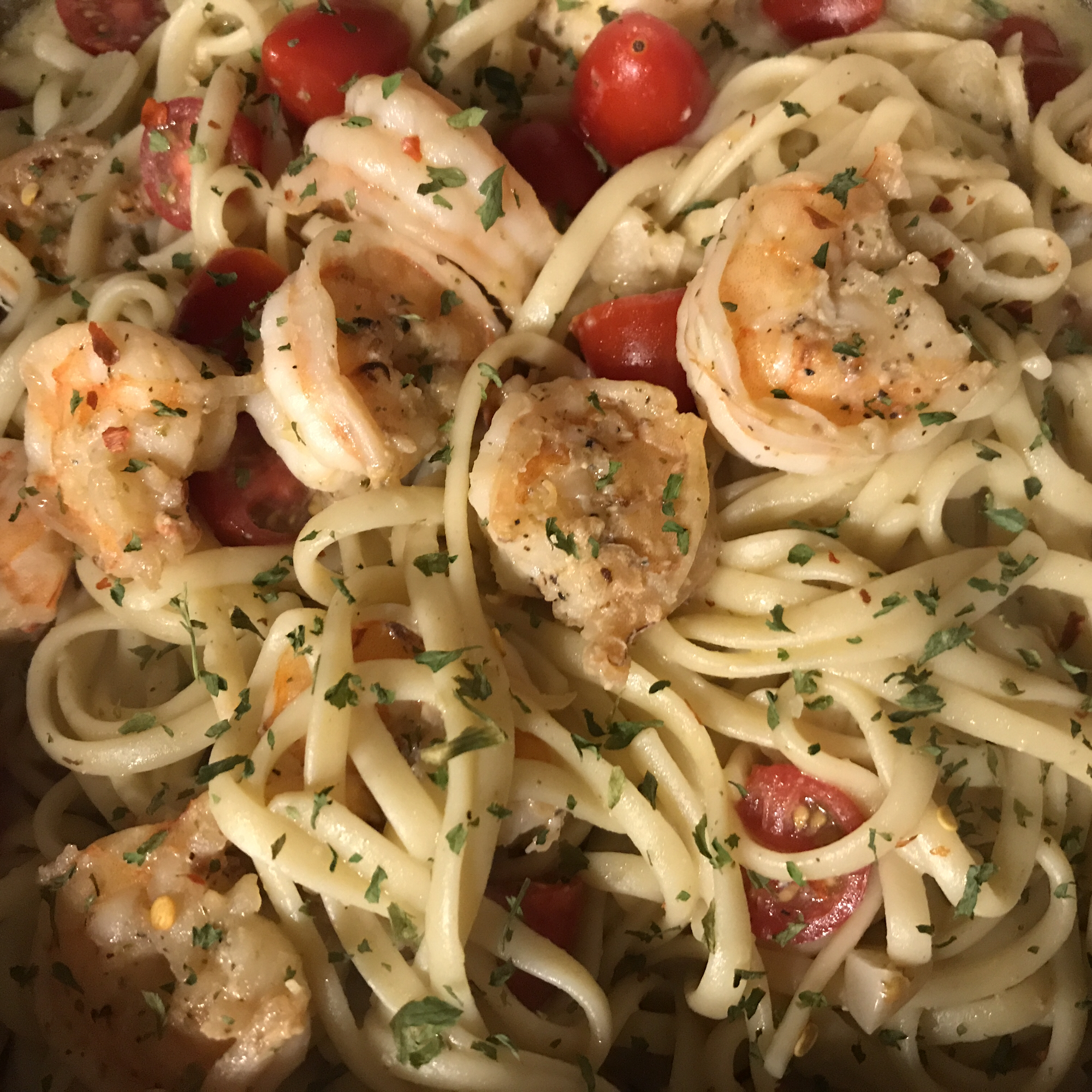 Garlic Shrimp Pasta Lisa