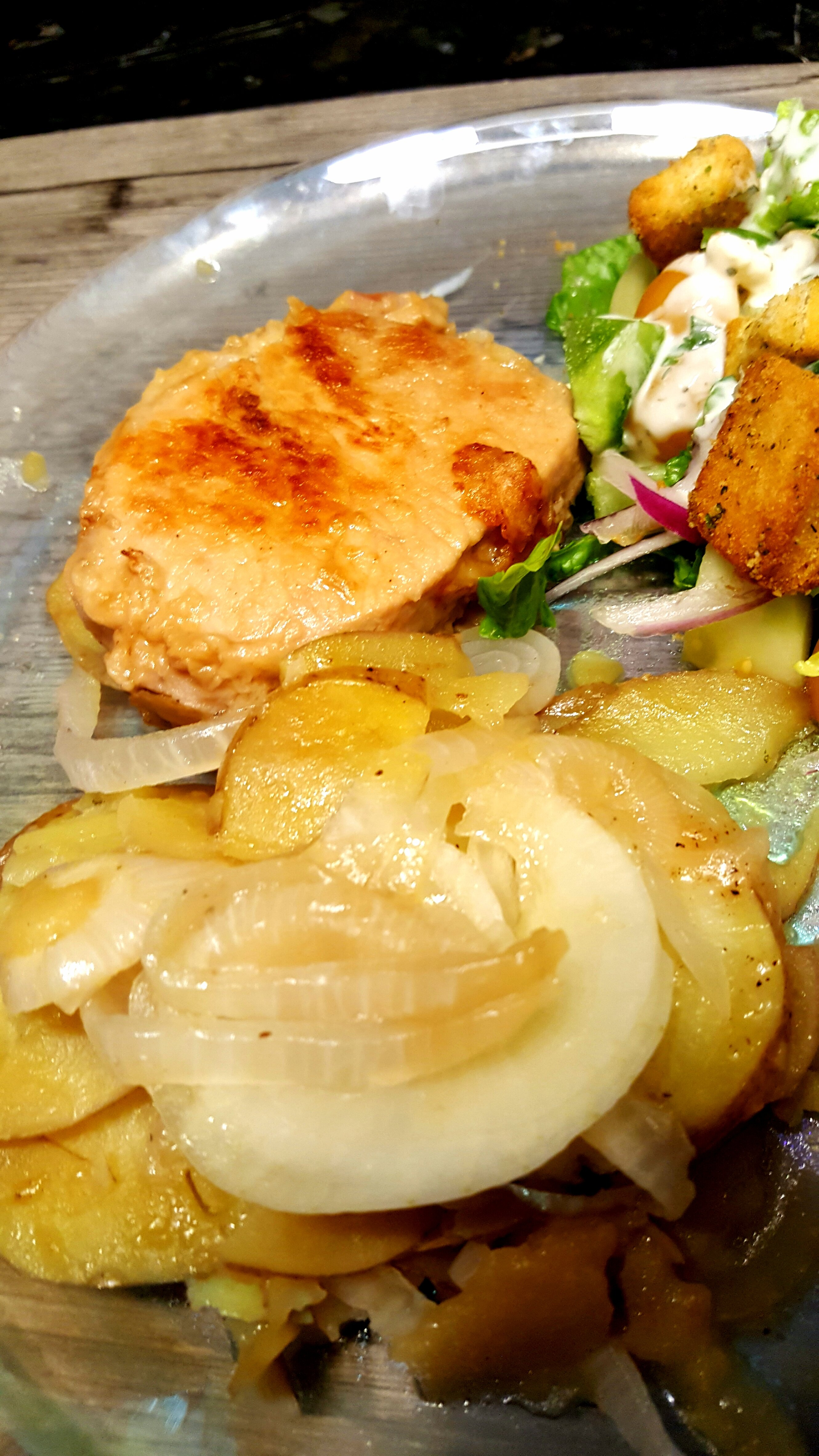 pork chops potatoes onions recipe Skillet Pork Chops with Potatoes and Onion