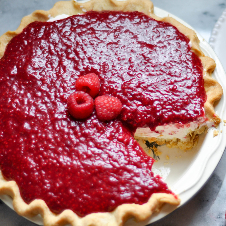 Raspberry Cream Pie The Sweet and Sour Baker