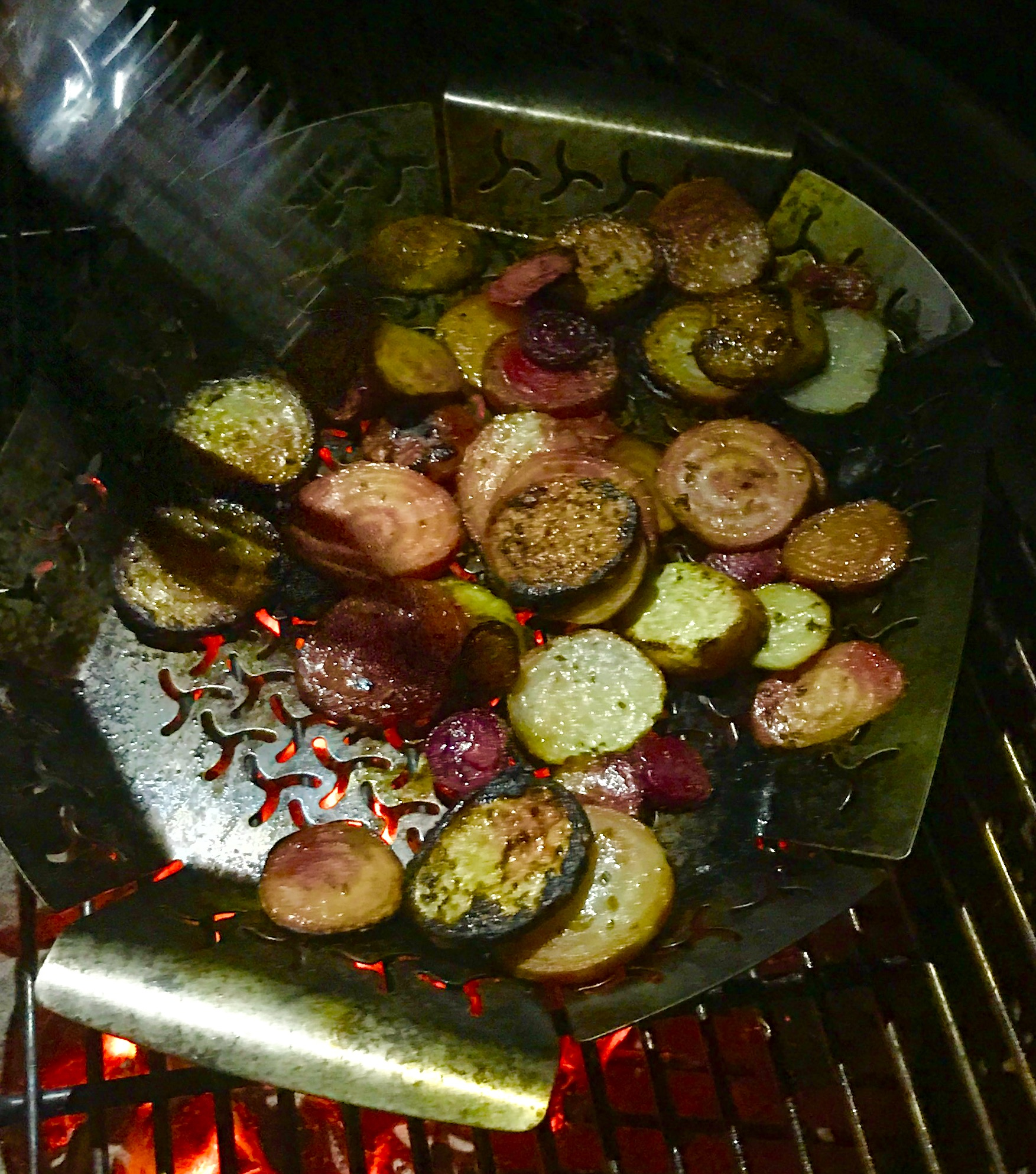 Grilled Beets in Rosemary Vinegar rshelt
