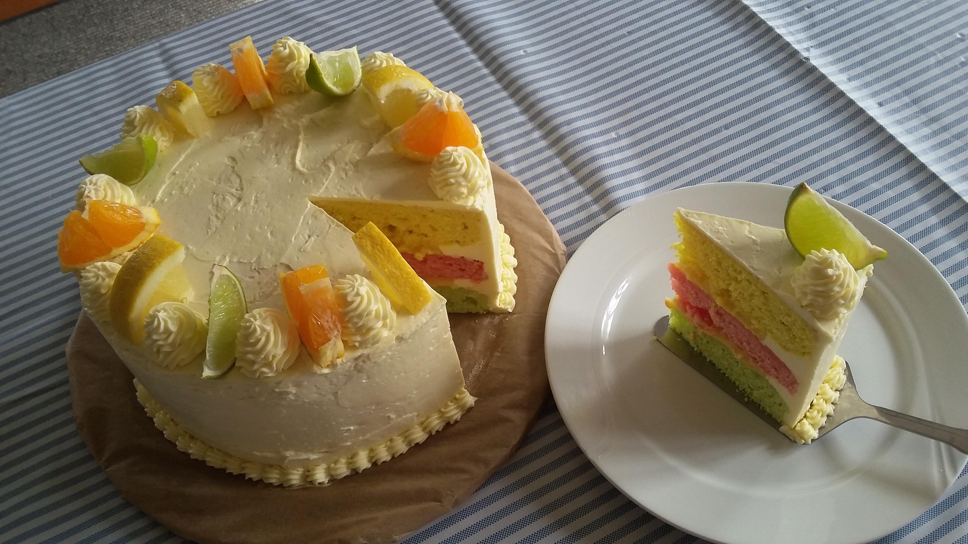 Rainbow Citrus Cake Alyanah Torres Remocal