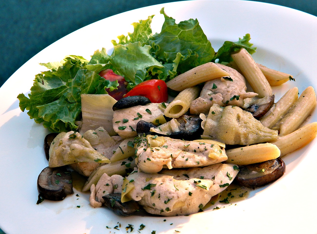 Chicken Pasta with Artichoke Hearts
