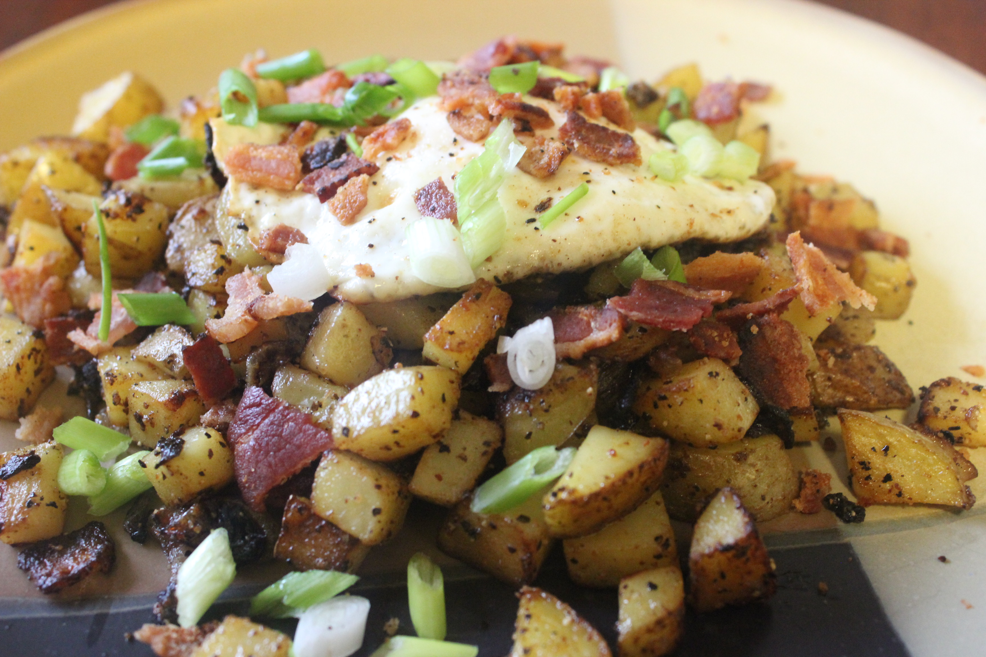 Homefried Potatoes with Garlic and Bacon mommyluvs2cook