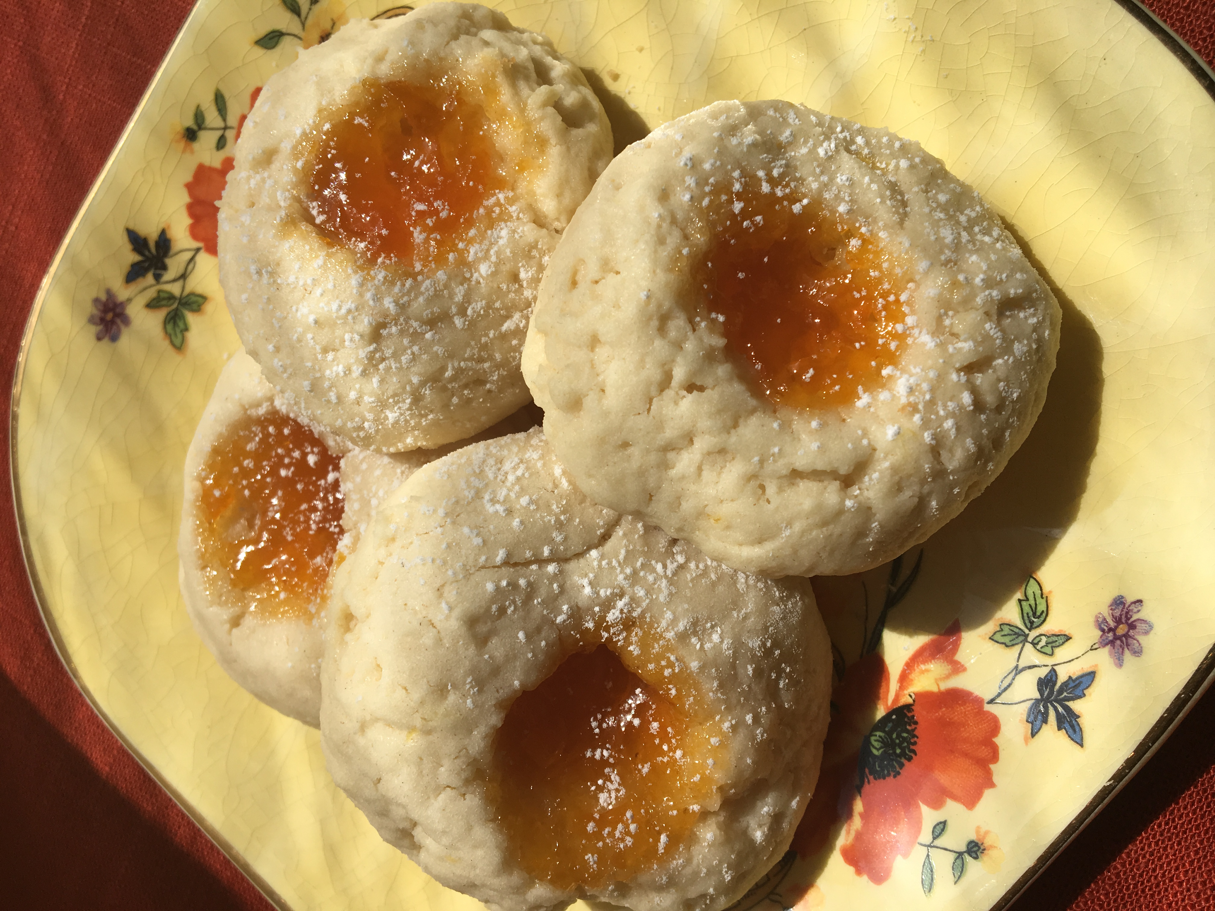 Apricot Cream Cheese Thumbprints