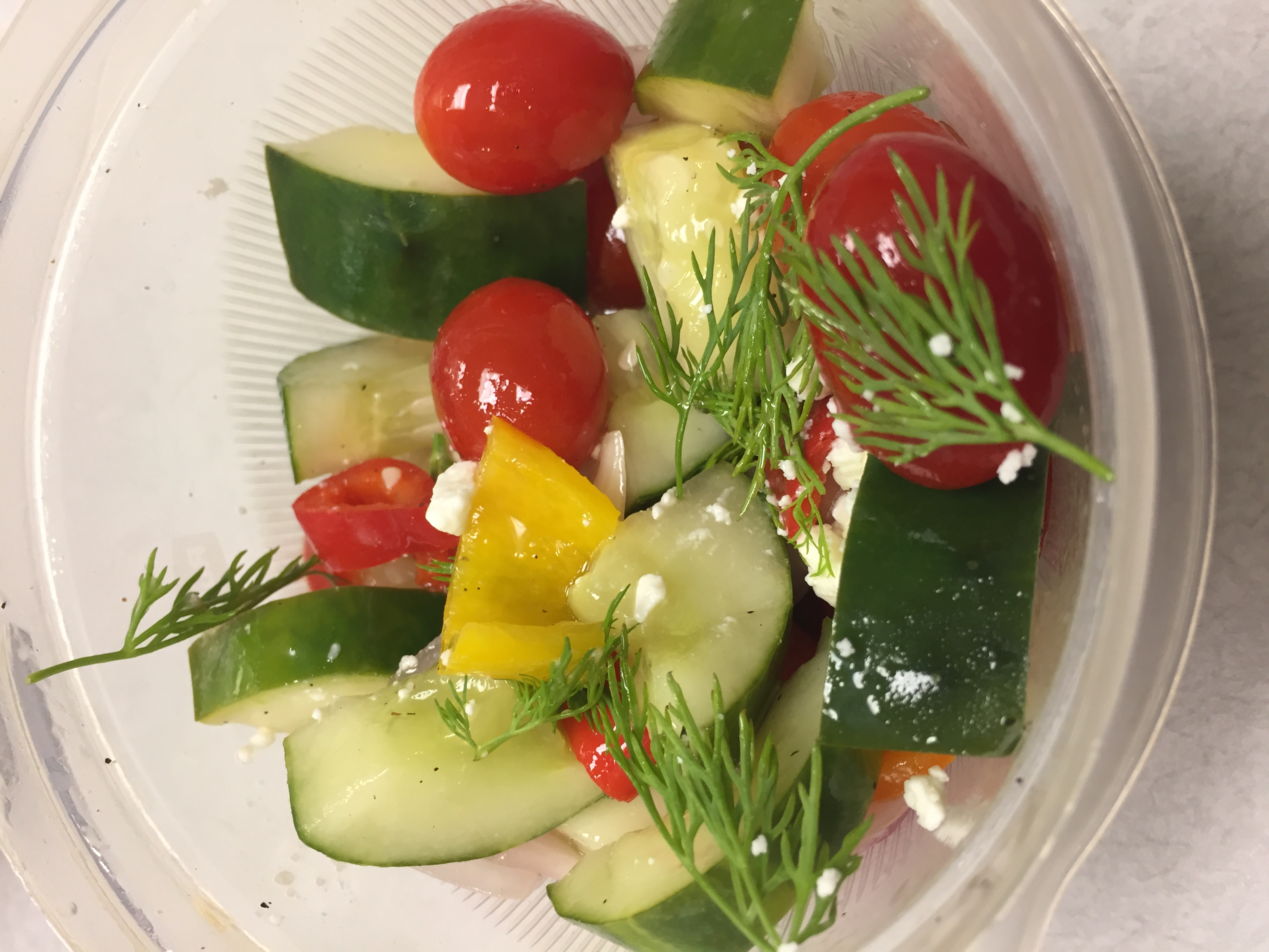 Cucumber Salad with Dill Vinaigrette Alicia M
