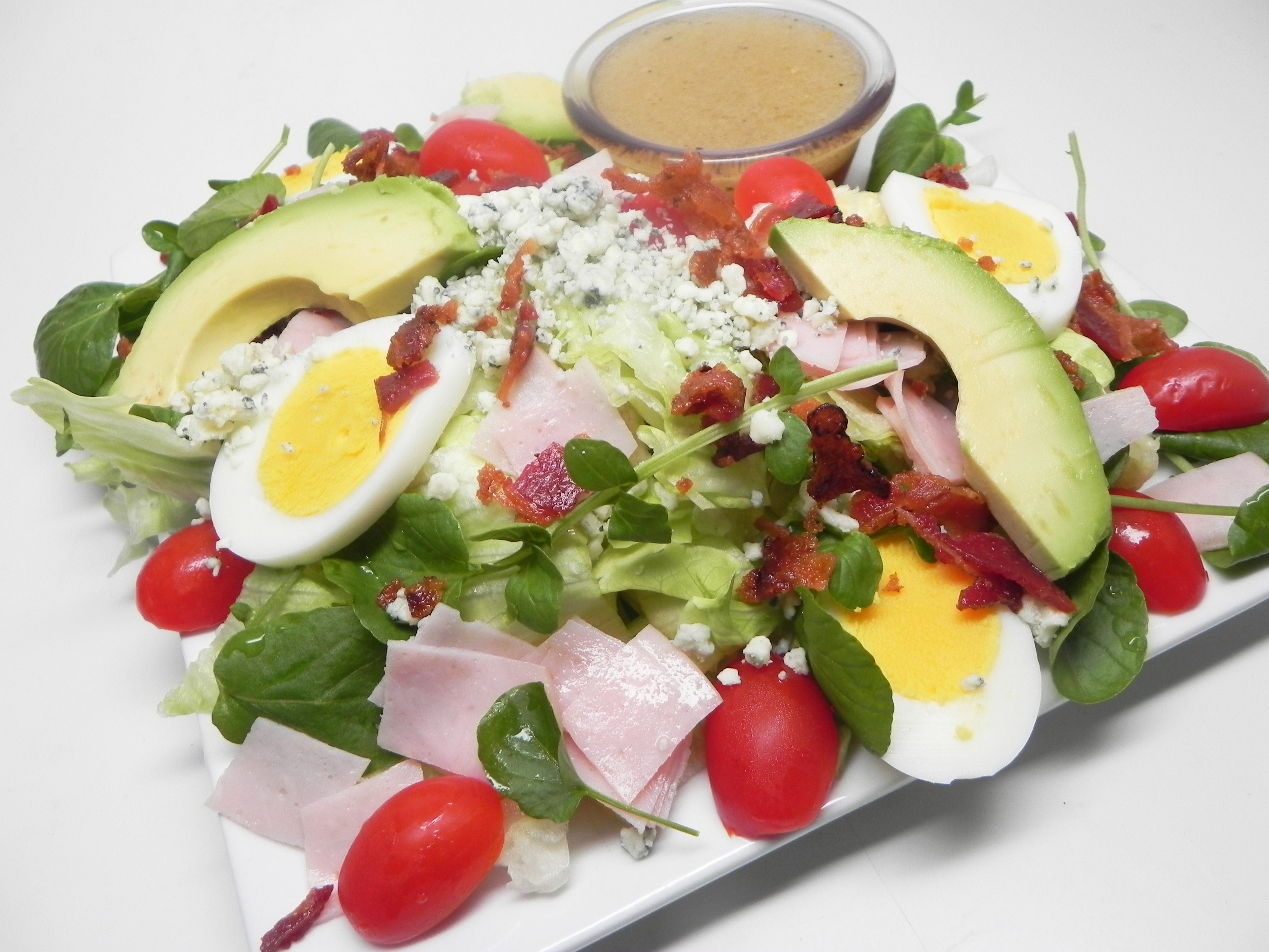 Cobb Salad with Brown Derby French Dressing