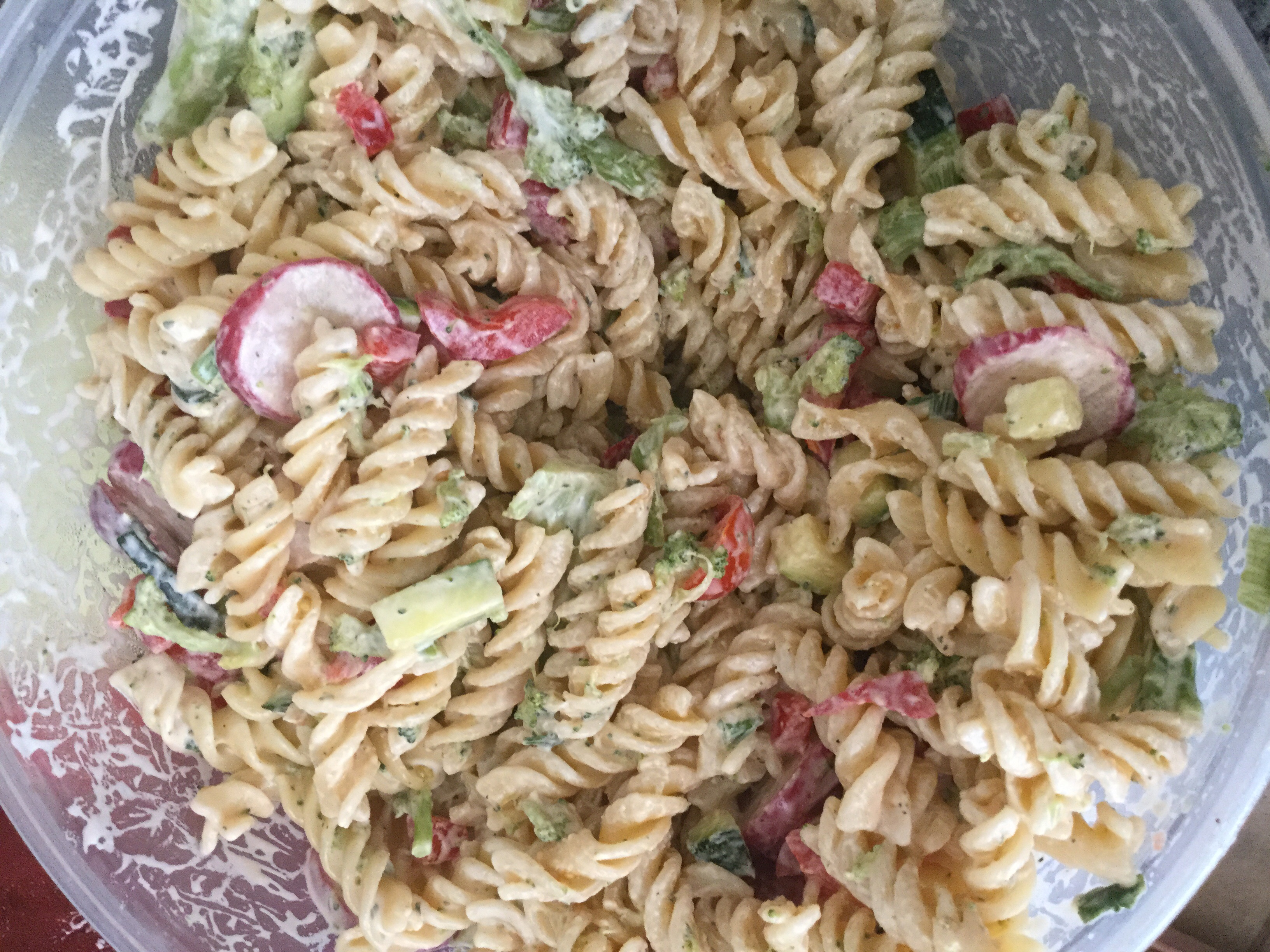 Cold Pasta Primavera Salad from Hidden Valley® Brookie Brookie