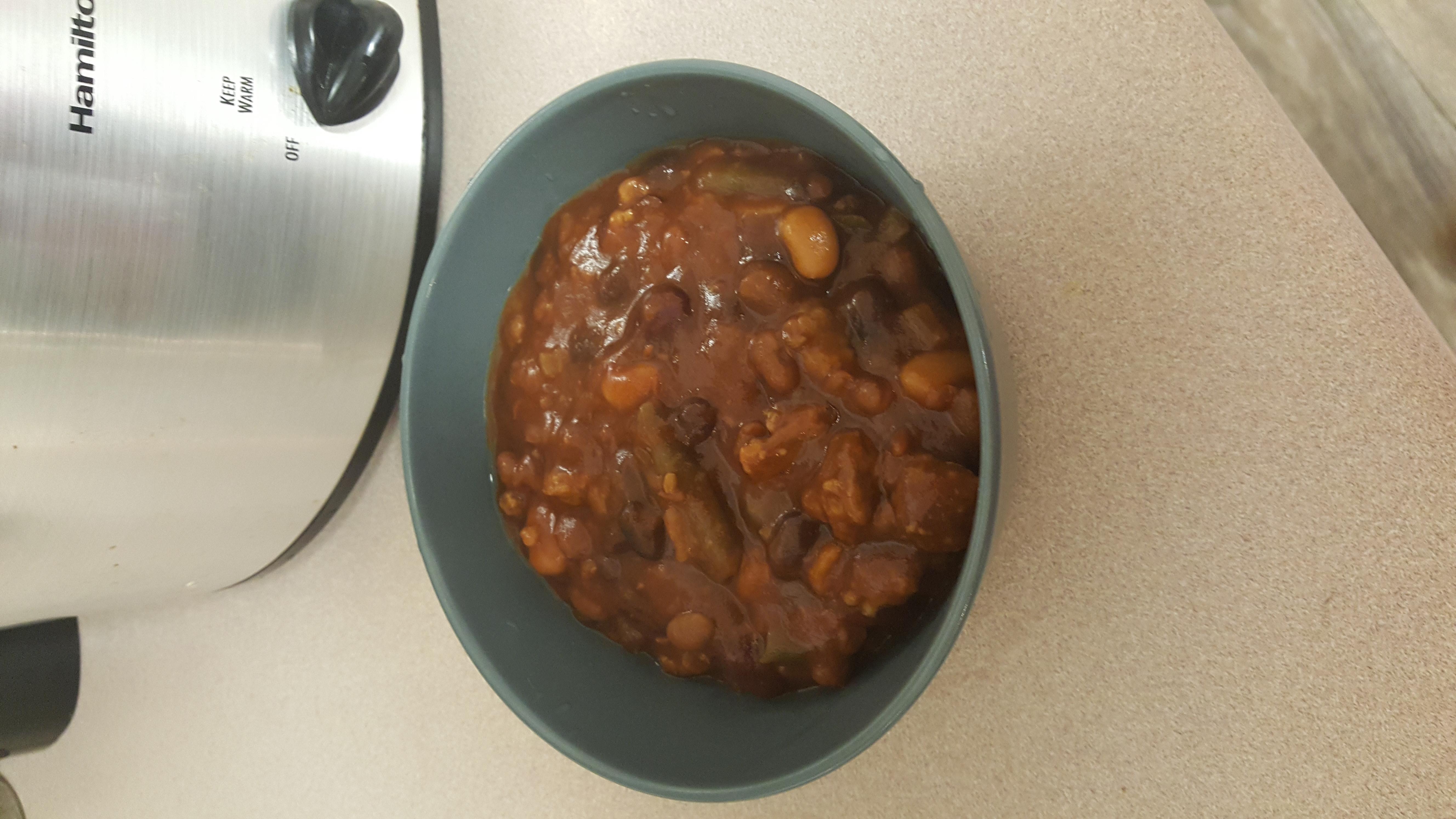 Slow Cooker BBQ Baked Beans jcvwill
