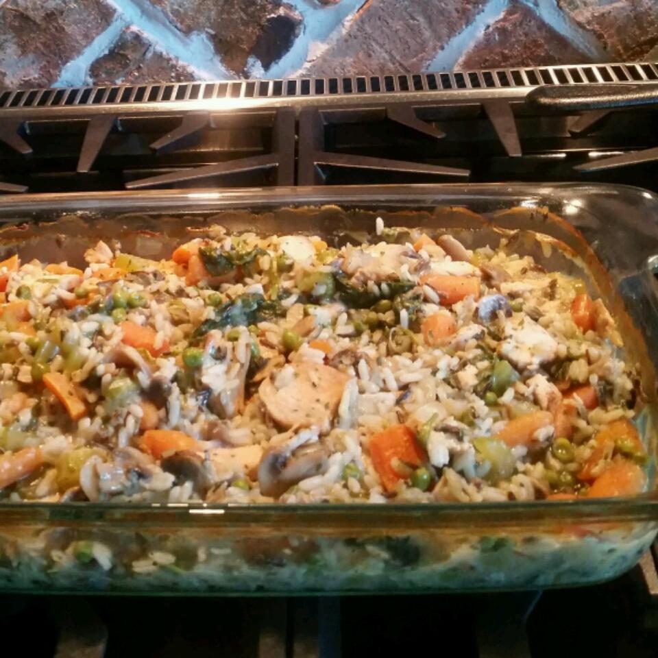 Super Veggie Chicken and Wild Rice Casserole jackiebooth13