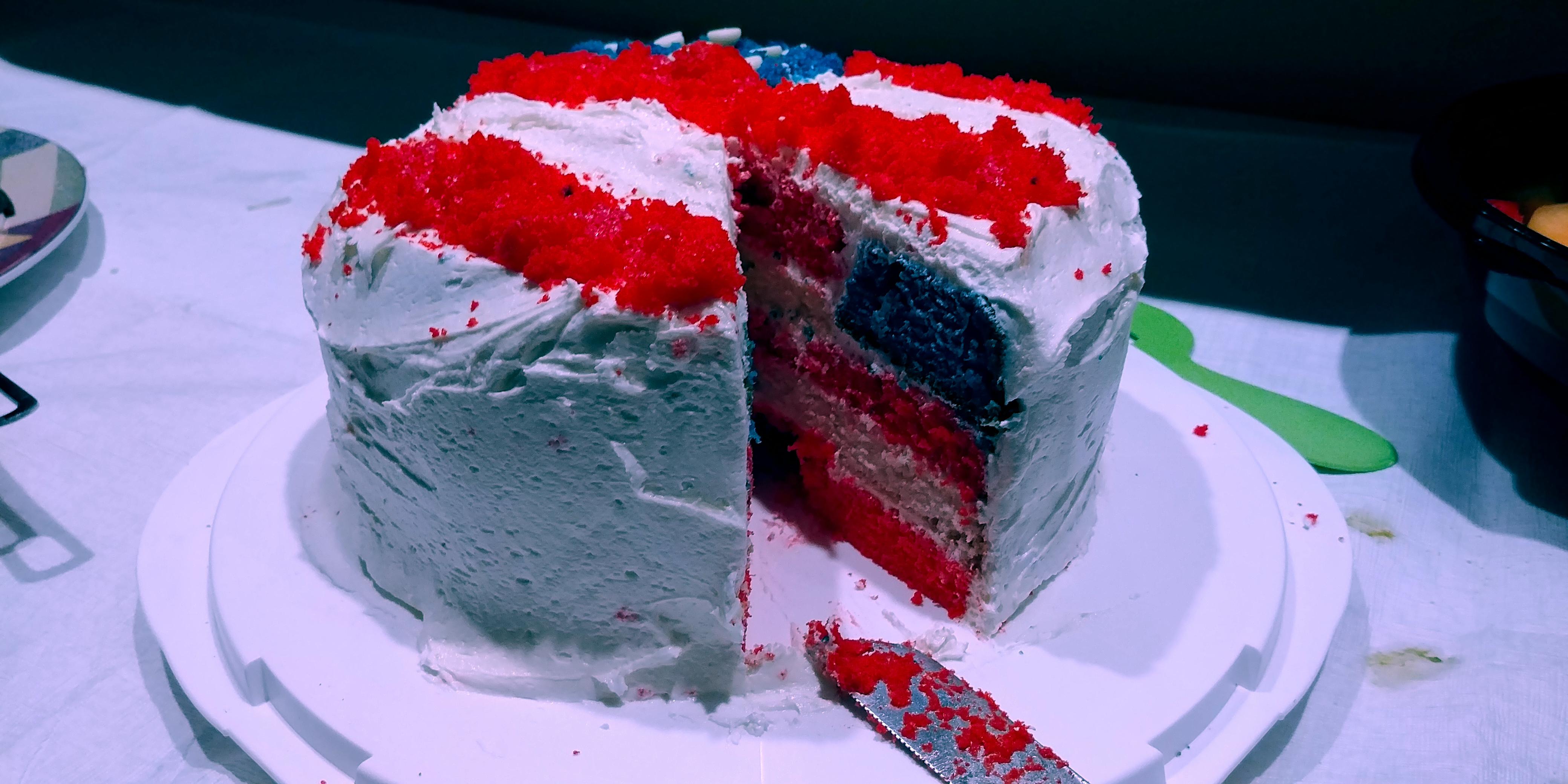 American Flag Cake Jennifer Dunphy